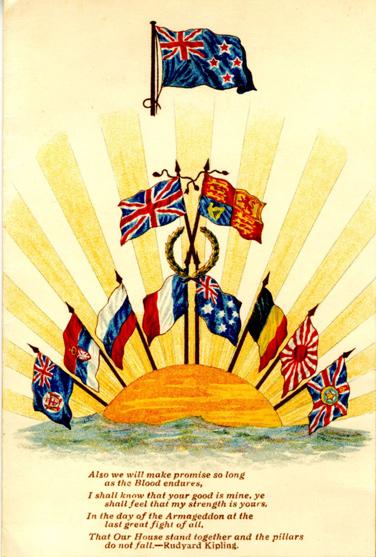 Greetings Message. London, The New Zealand War Contingent Association, 1915