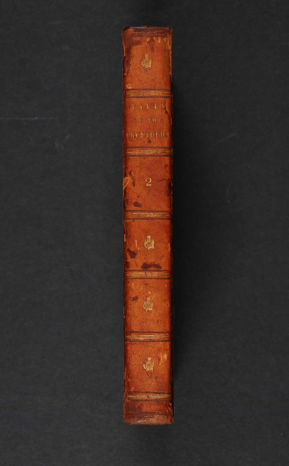 [Sir Walter Scott]. <em>Tales of the Crusaders.</em> Vol. I[-II]. <em>The betrothed.</em> [1st edition]. Edinburgh: Printed for Archibald Constable and Co., Edinburgh; and Hurst, Robinson and Co., London, 1825. Four volumes; Vol. 2 displayed.