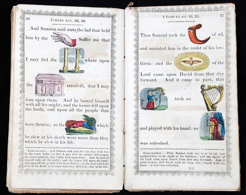 <em>The modern hieroglyphical Bible, designed to promote the amusement and instruction of youth.</em> London: R. Harrild, 1815.