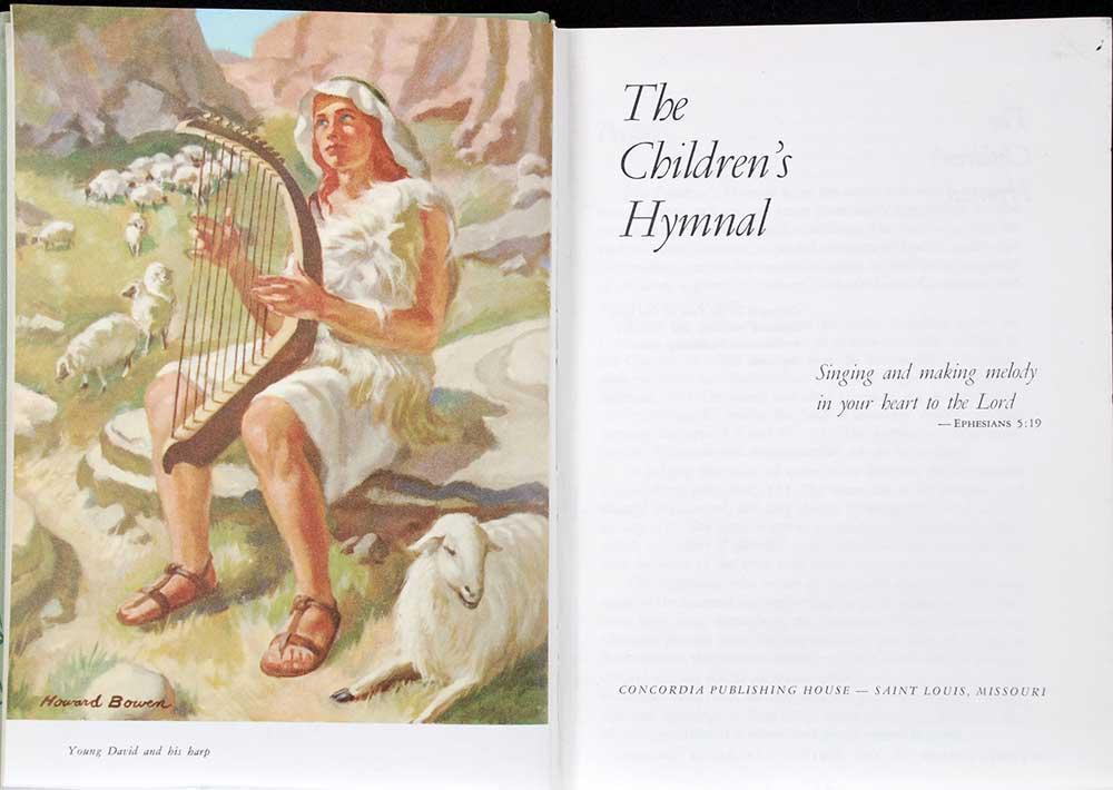<em>The Children's hymnal.</em> Saint Louis: Concordia Publishing House, 1955.