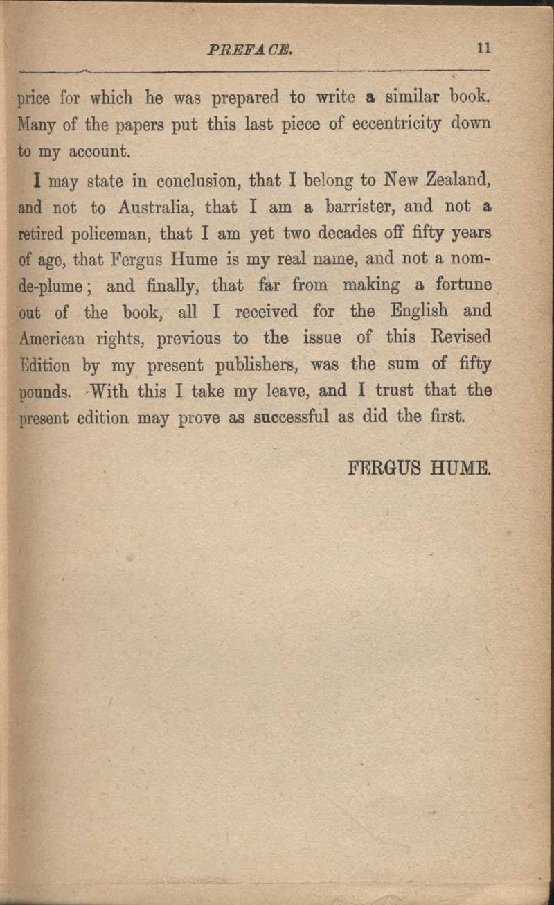Hume, F. The Mystery of a Hansom Cab. London: Jarrods, [1925]
