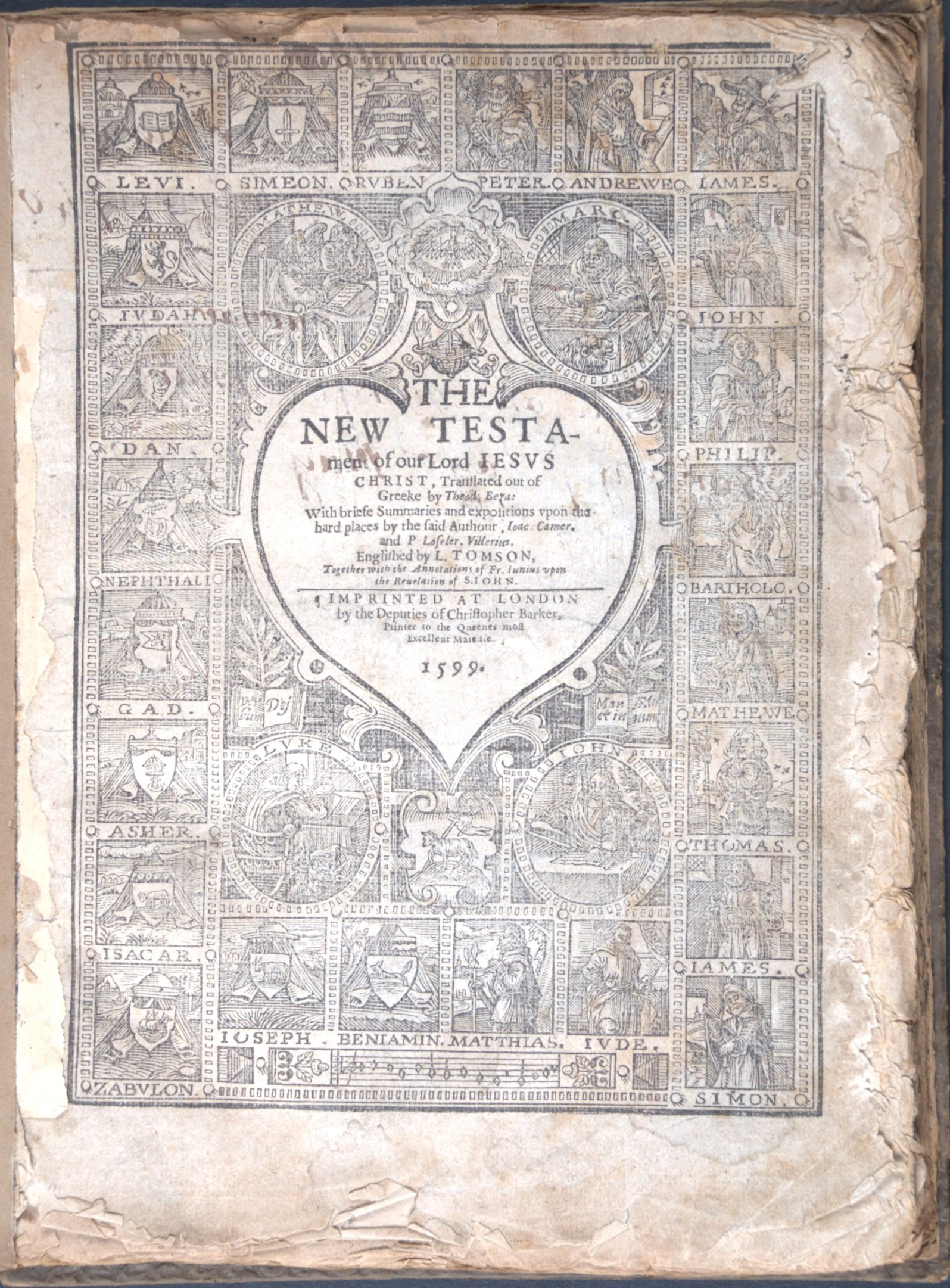 The Bible, that is, the Holy Scriptures conteined in the Olde and Newe Testament. London: Christopher Barker, 1599.