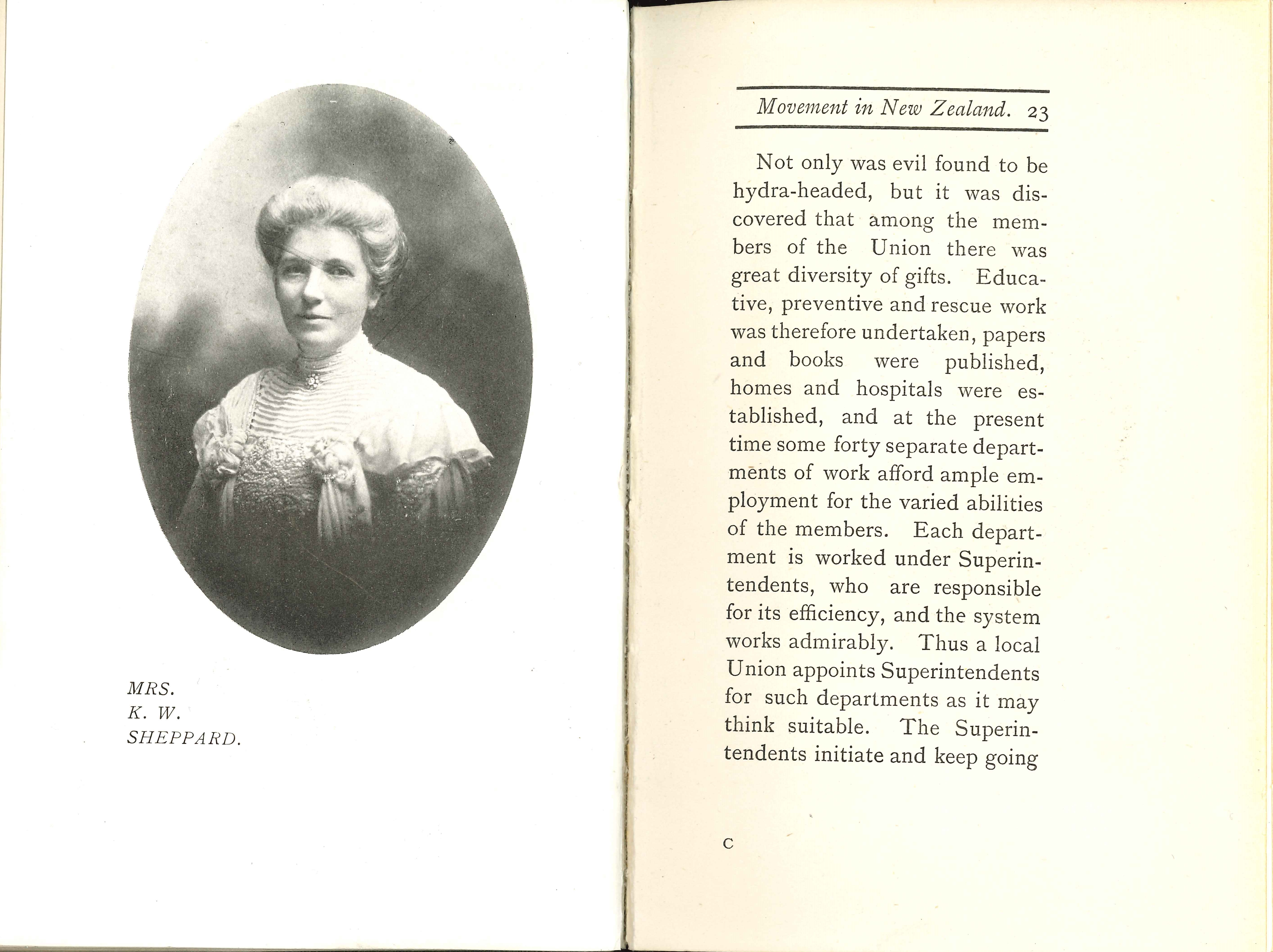 W. Sidney Smith. Outlines of the women's franchise movement in New Zealand. Christchurch: Whitcombe & Tombs, 1905.
