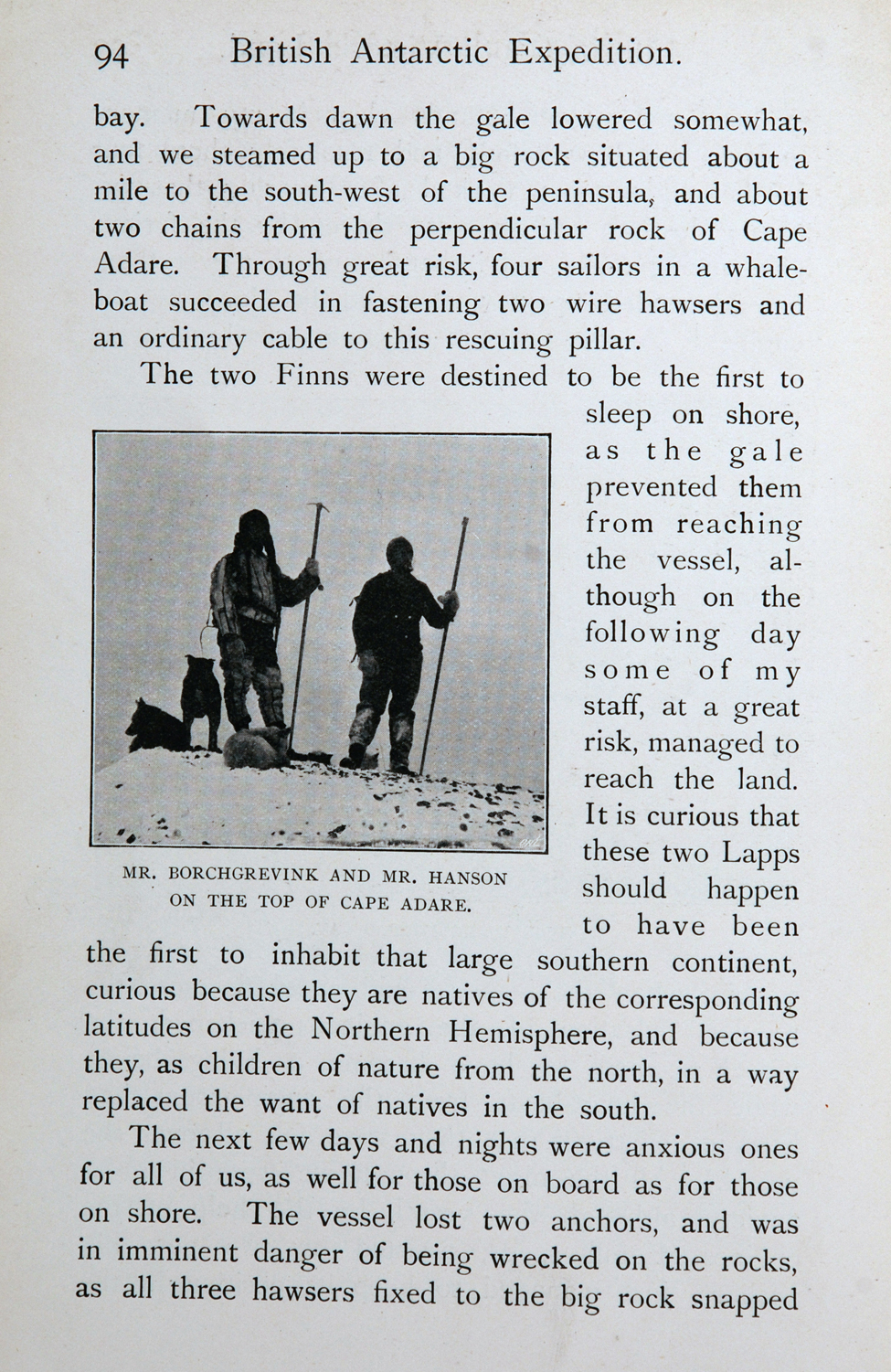 C. E. Borchgrevink. <i>First on the Antarctic Continent: Being an Account of the British Antarctic Expedition 1898–1900</i>. London: George Newnes, Limited, 1901.