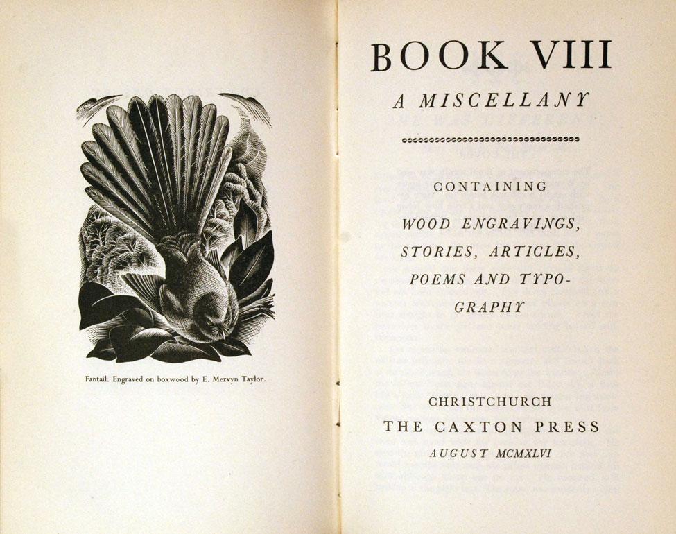 Book: A Miscellany, Vol. VIII.<i> Christchurch: The Caxton Press, August 1946.</i>