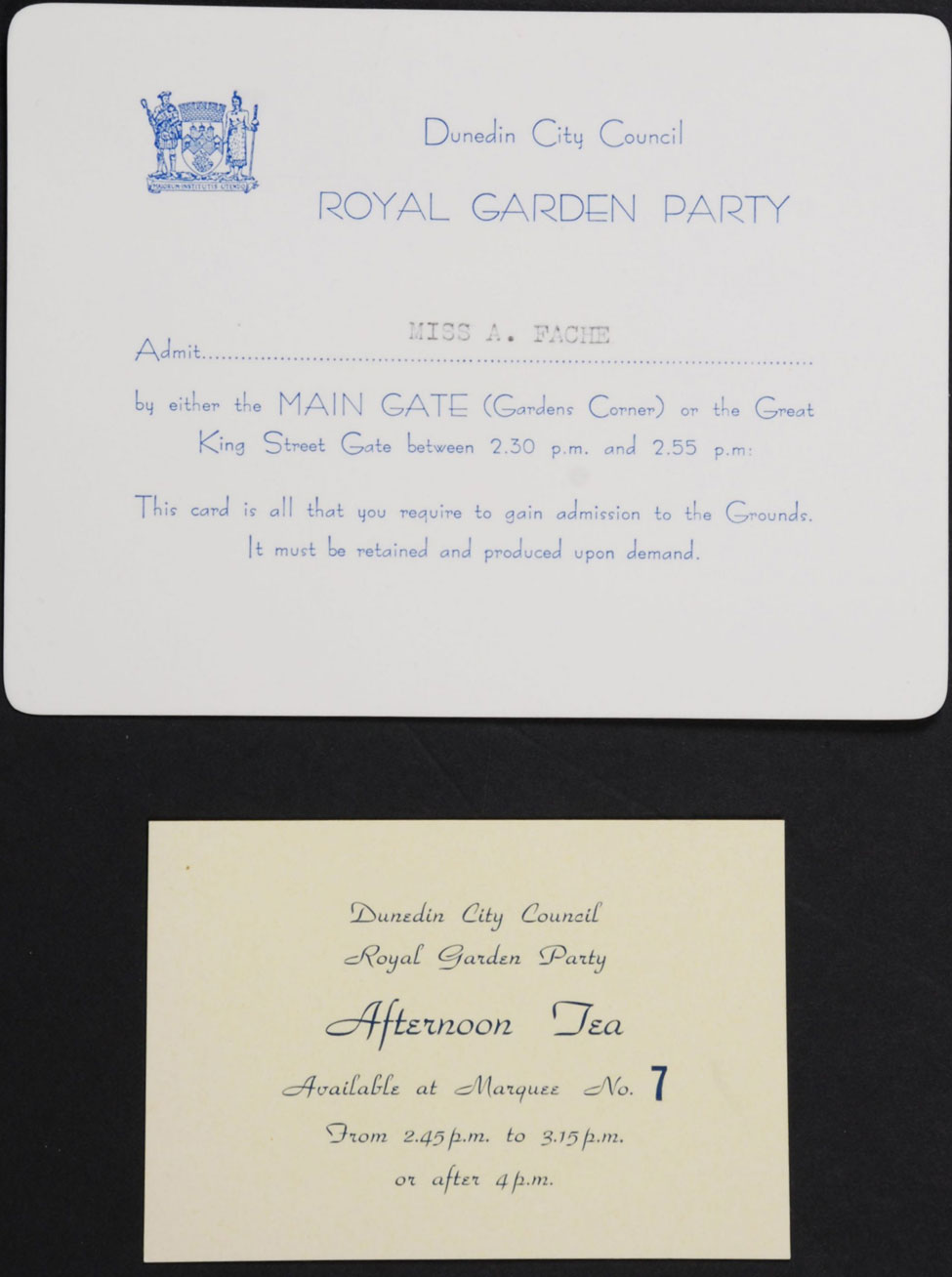 Entry Card and Tea Voucher