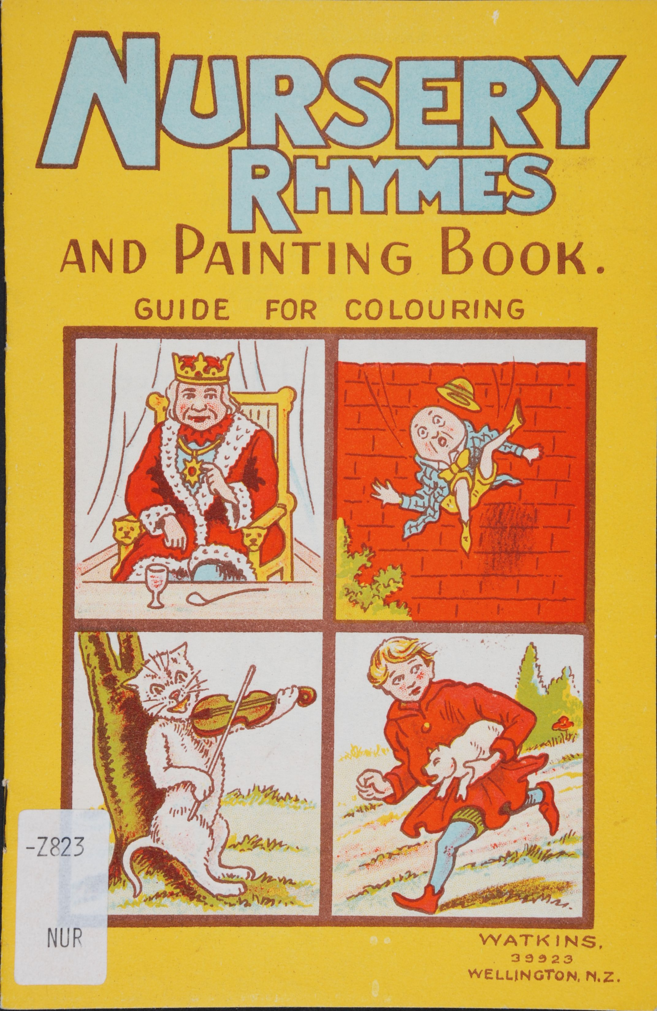Nursery Rhymes and painting book. Wellington, N.Z.: Watkins, [1942].