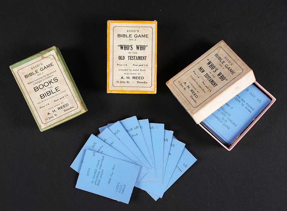 Isabel Reed (compiler). <em>Reed's Bible game.</em> Wellington: A.H. & A.W. Reed, [193-?]
