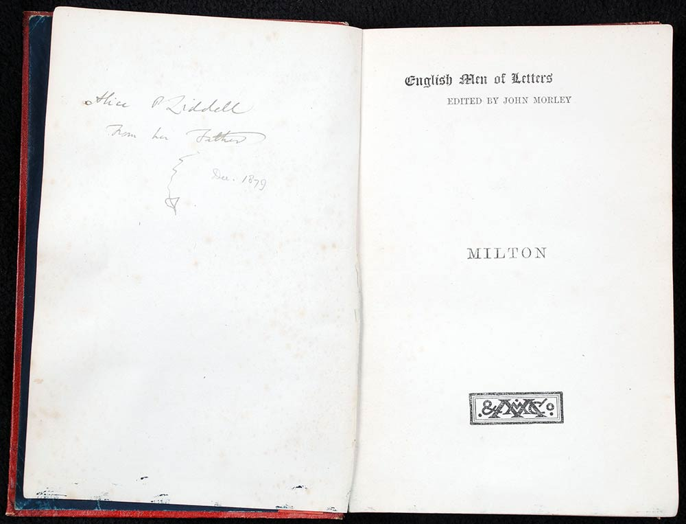Mark Pattison. <em>Milton</em>. London: Macmillan, 1879.
