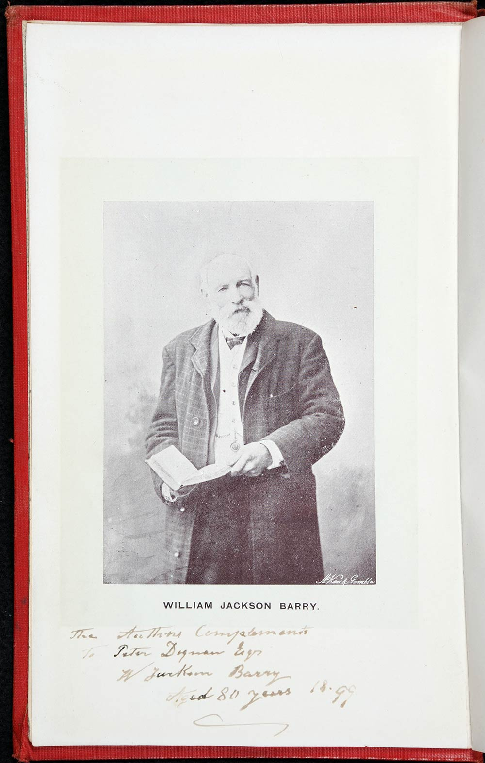 William Jackson Barry. <em>Past & present, and men of the times</em>. Wellington: McKee & Gamble, 1897.