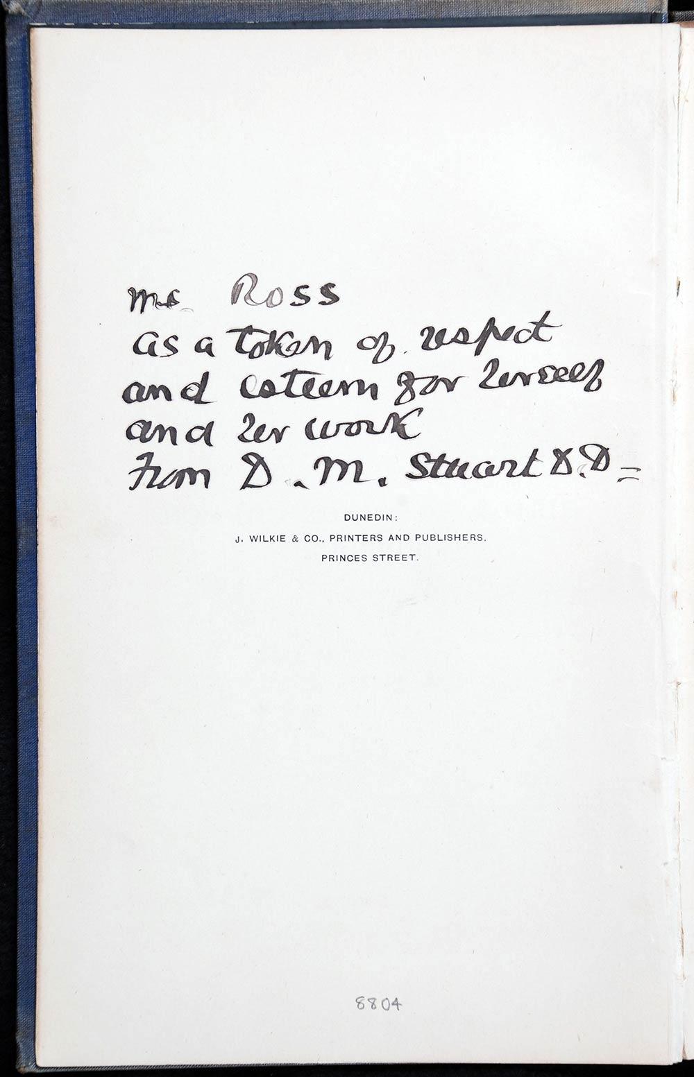 John Hislop. <em>History of Knox Church, Dunedin</em>. Dunedin: J. Wilkie, 1892.
