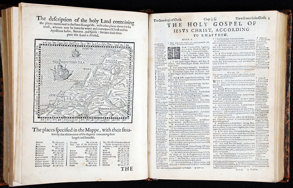 <em>The Bible that is, the Holy Scriptures conteined in the Old and New Testament. Translated according to the Ebrew and Greeke, and conferred with the best translations in divers languages. With most profitable annotations upon all the hard places, and other things of great importance.</em> London: By the Deputies of Christopher Barker, Printer to the Queenes most excellent Majestie, 1599.