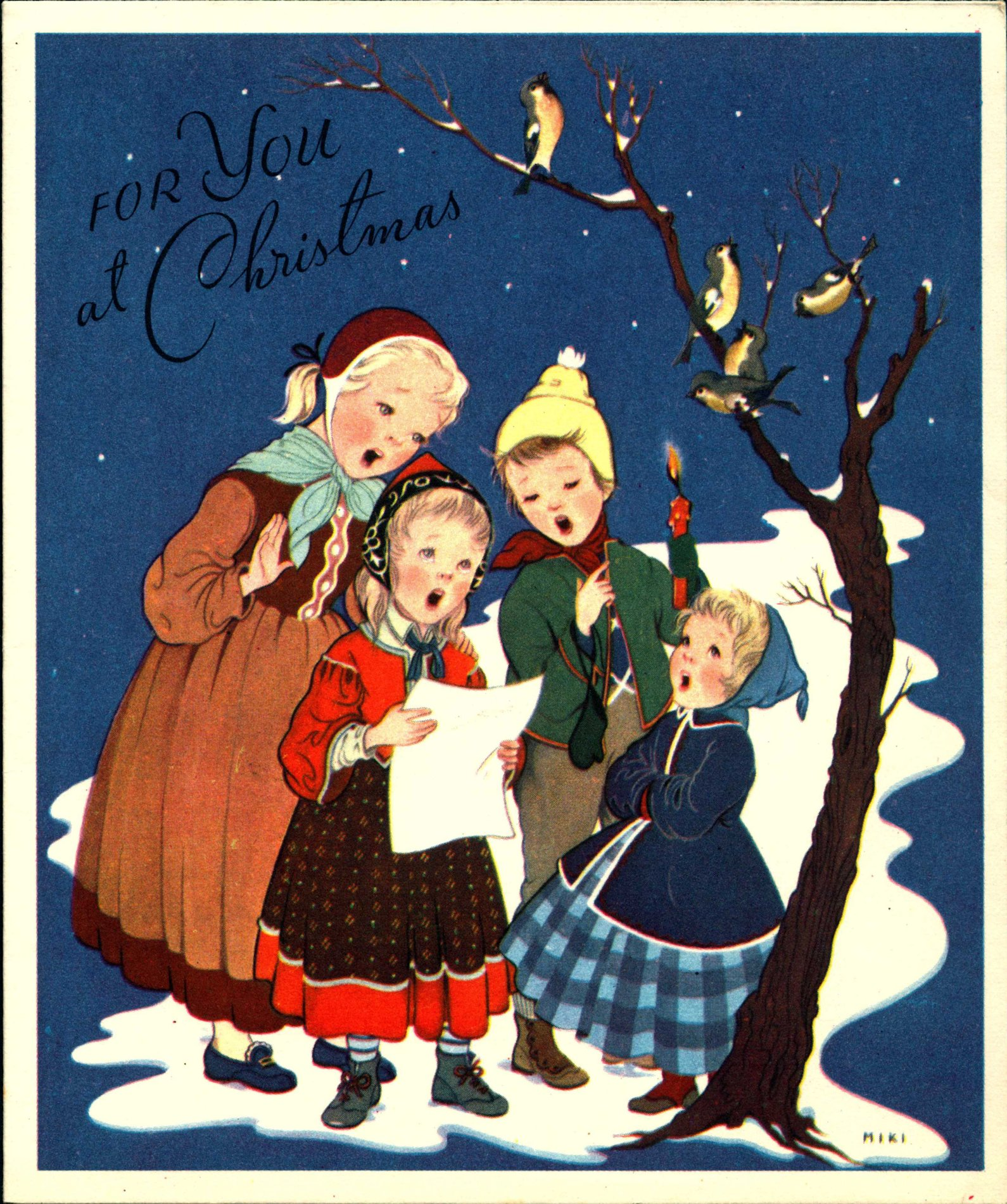 Christmas Cards sent to A.H. Reed