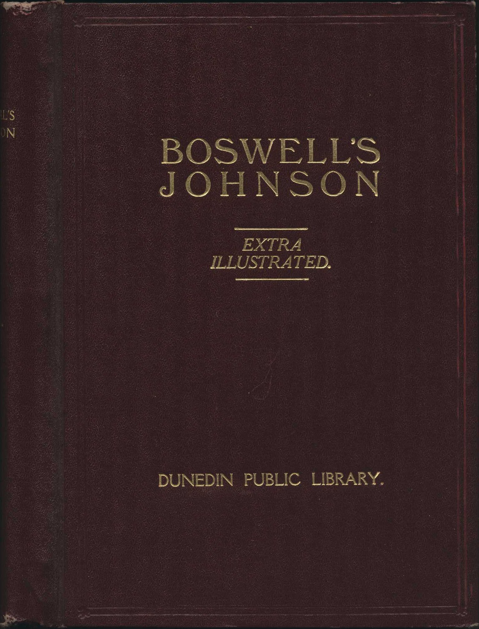 James Boswell. The Life of Samuel Johnson. London: Sir Isaac Pitman & Sons Ltd., 1907; extra-illustrated by A.H. Reed. 10 volumes, Vol. 1 displayed.