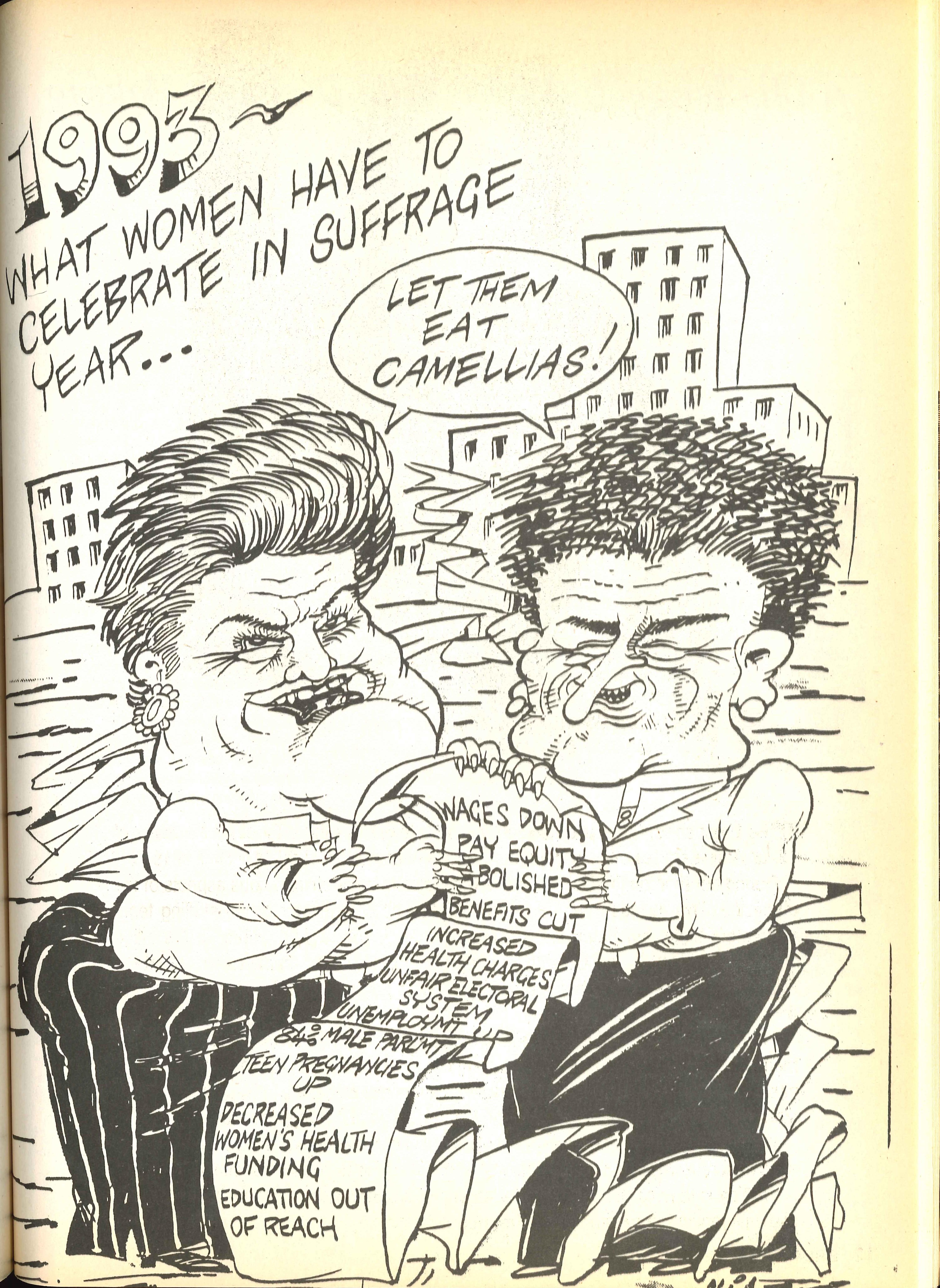 Broadsheet. Auckland: Auckland Women's Liberation, Summer 1993.