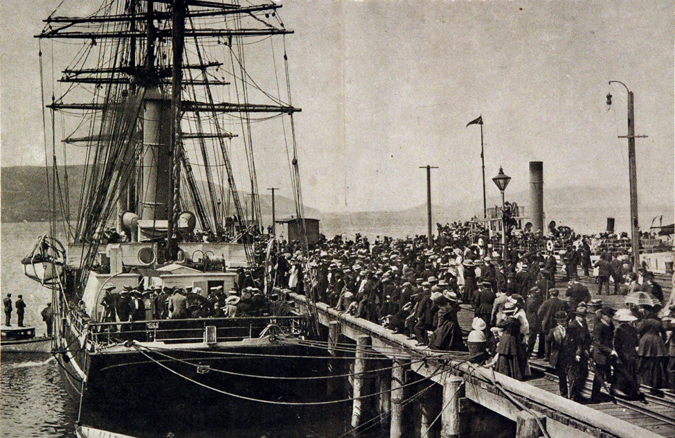 Photograph. The <i>Terra Nova</i> in Port Chalmers, 29 November 1910; Reproduced from the Otago Witness, December 1910.