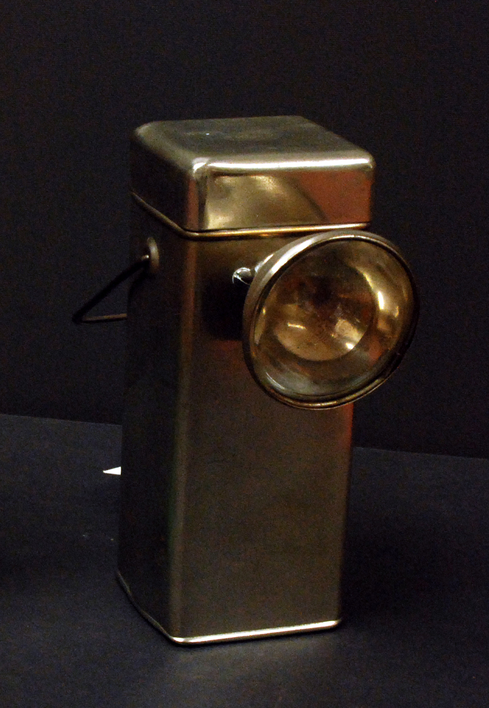 Memorabilia from the Byrd Antarctic Expedition, ca. late 1920s to early 1930s; lamp.
