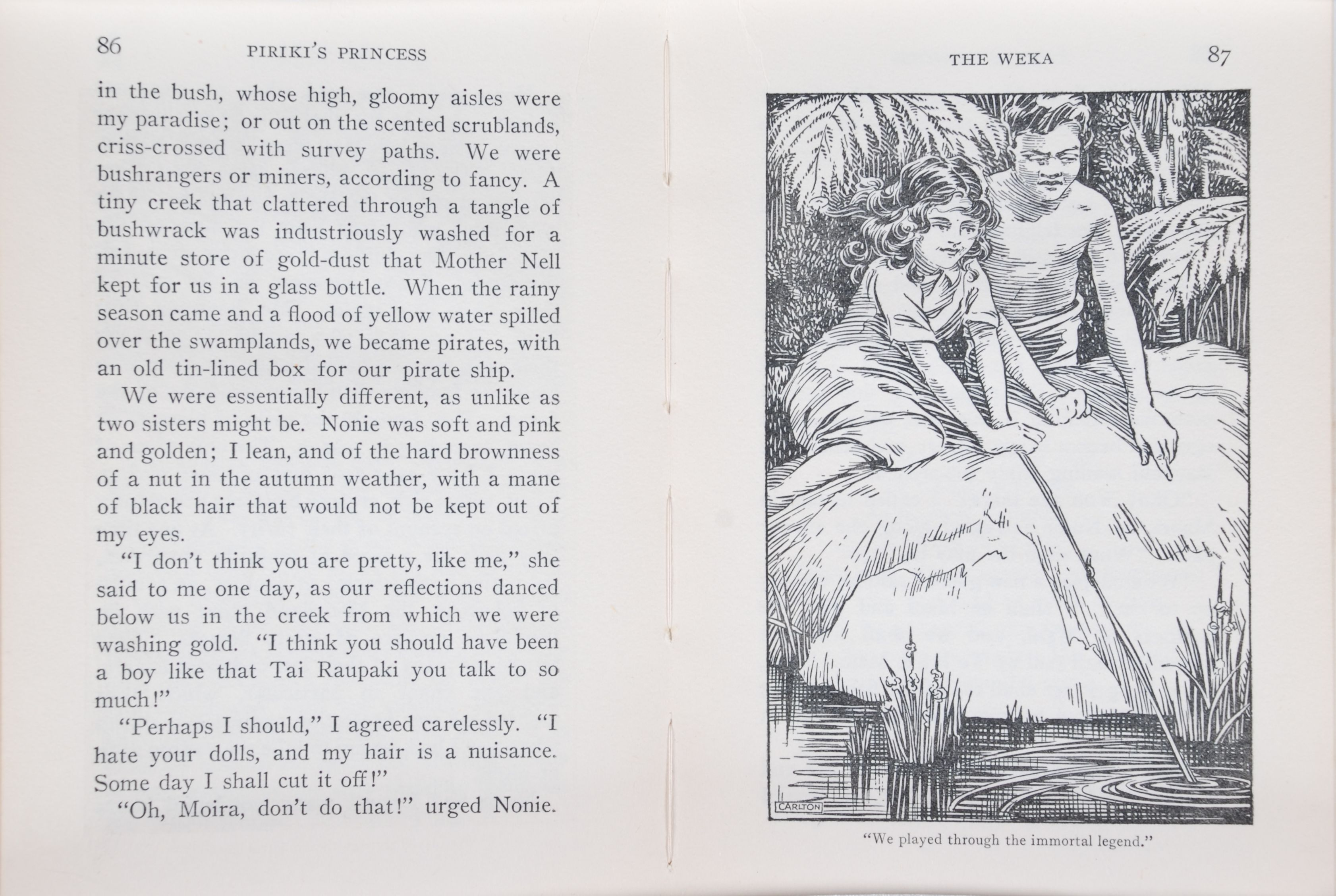 Mona Tracy. Piriki's princess, and other stories of New Zealand. Auckland: Whitcombe & Tombs, [1925].
