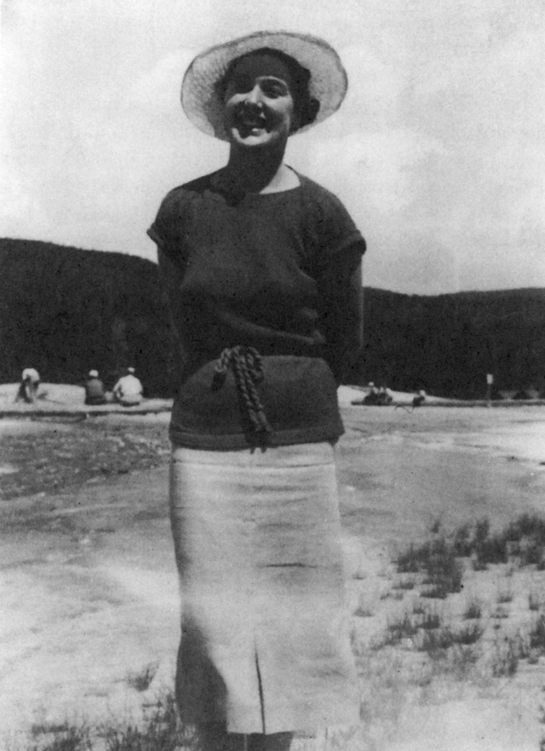 Dorothy Neal at Yellowstone Park