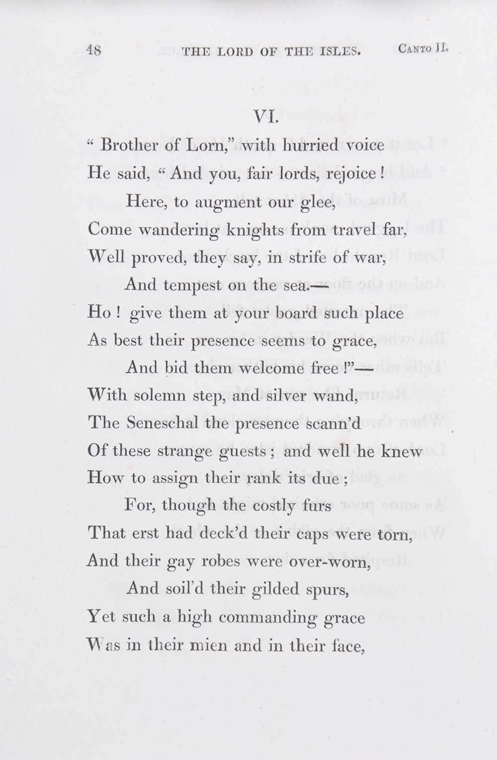 Sir Walter Scott. <em>The Lord of the Isles: a poem.</em> [1st edition]. Edinburgh: Printed for Archibald Constable and Co., Edinburgh; and Longman, Hurst, Rees, Orme, and Brown; by James Ballantyne and Co., Edinburgh, 1815.