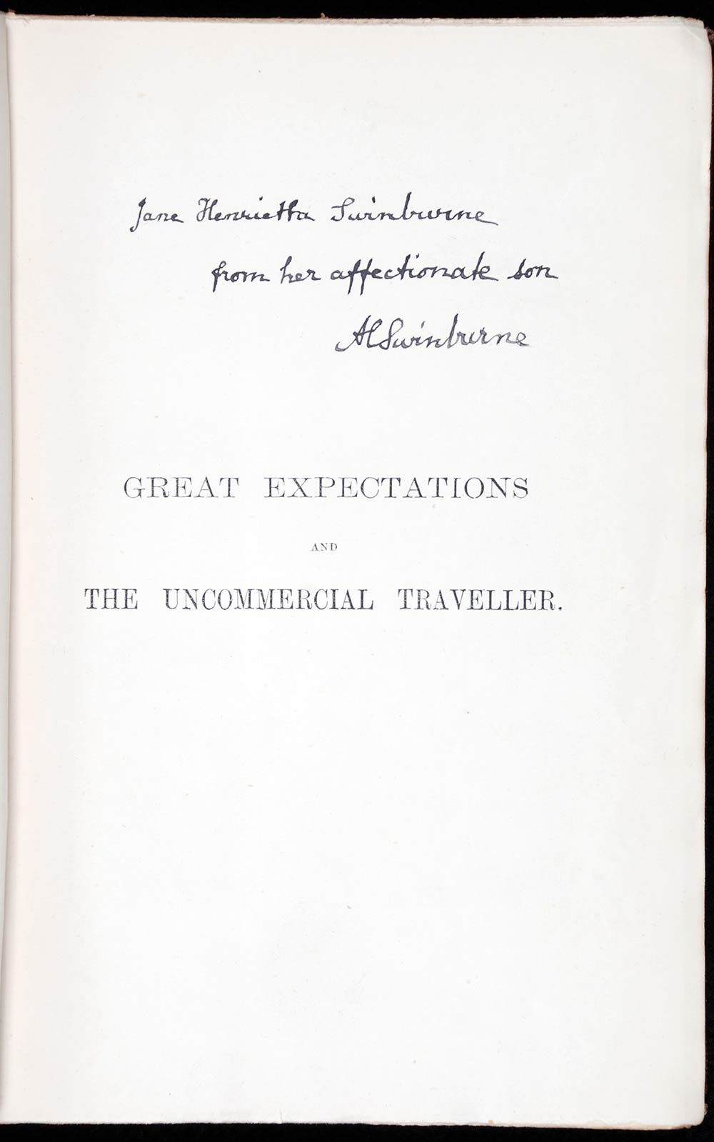 Charles Dickens. <em>Great expectations, and, The uncommercial traveller</em>. Crown edition. London: Chapman & Hall, 1891.