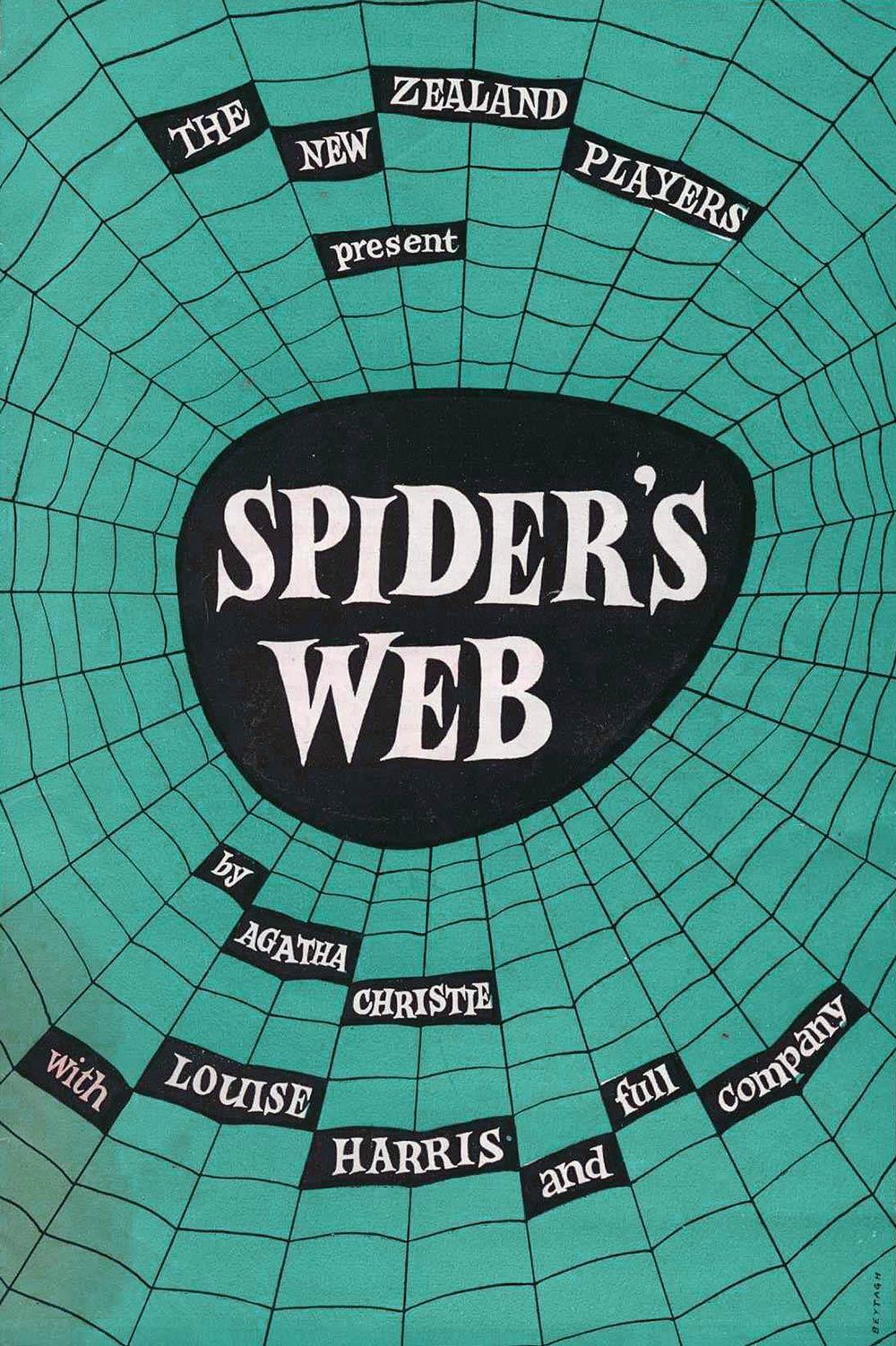 <em>Spider's web</em>. Agatha Christie. (New Zealand Players). 1958.