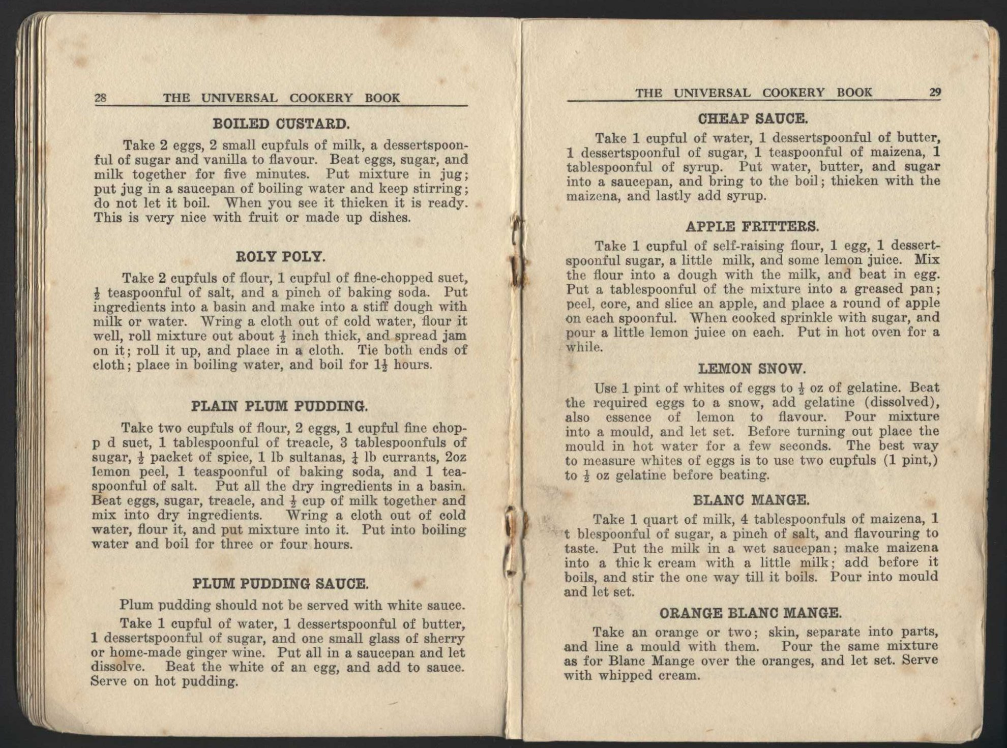 Mrs J. Beaton (Editor). The universal cookery book: for the cottage or the palace. 5th edition. Dunedin: Mills, Dick and Co., 1925.