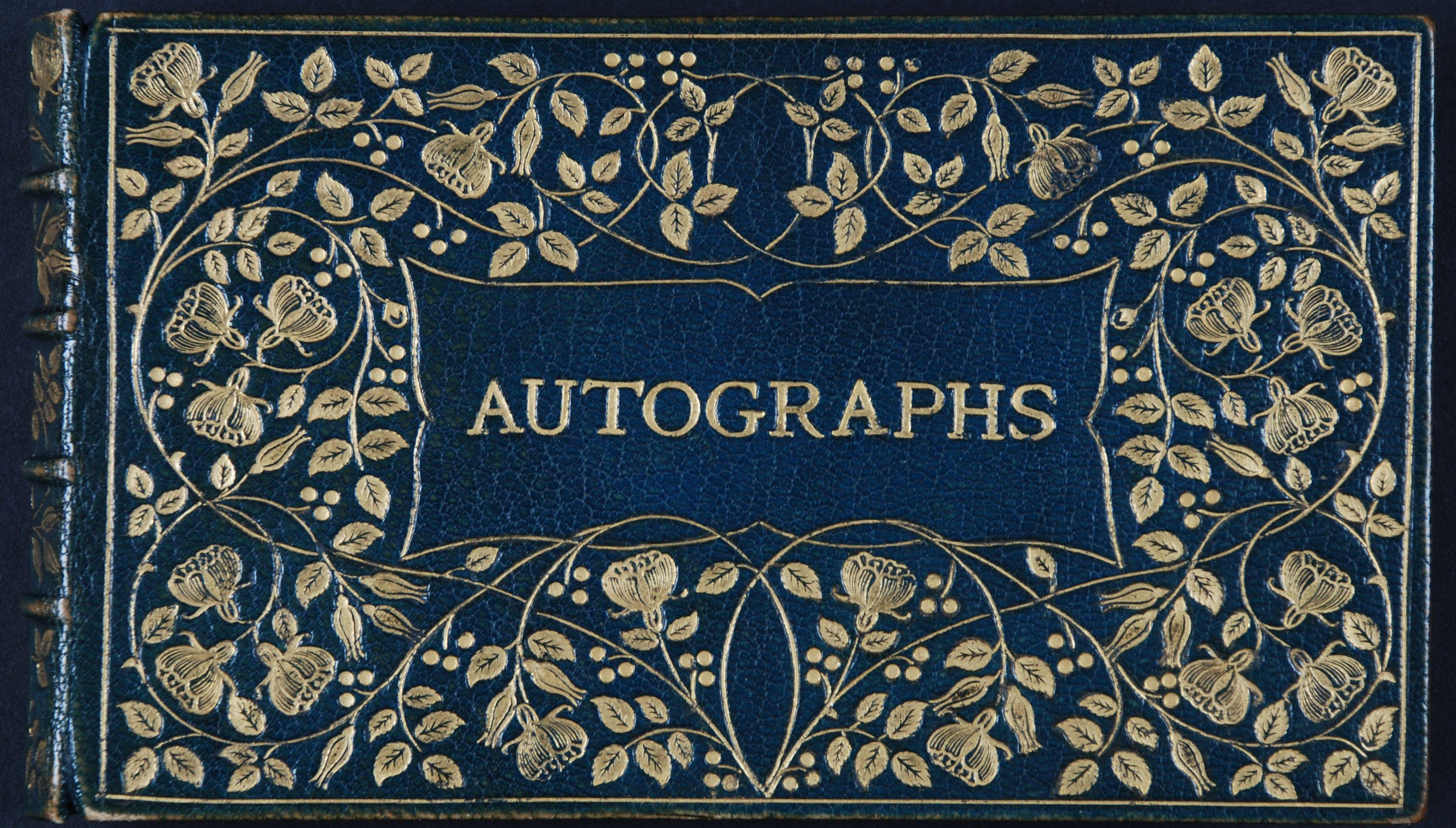 Autographs: collected by M.E. Joachim.