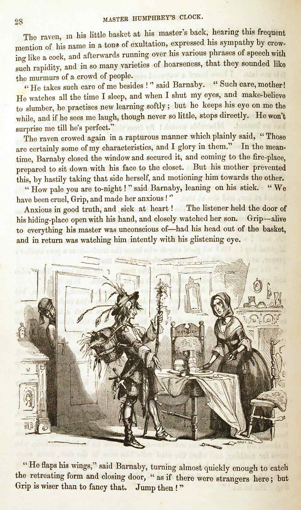 From Chapter Seventeen of Barnaby Rudge: A Tale of the Riots of 'Eighty in Master Humphrey's Clock No. 55. London: Chapman and Hall, 17 April 1841