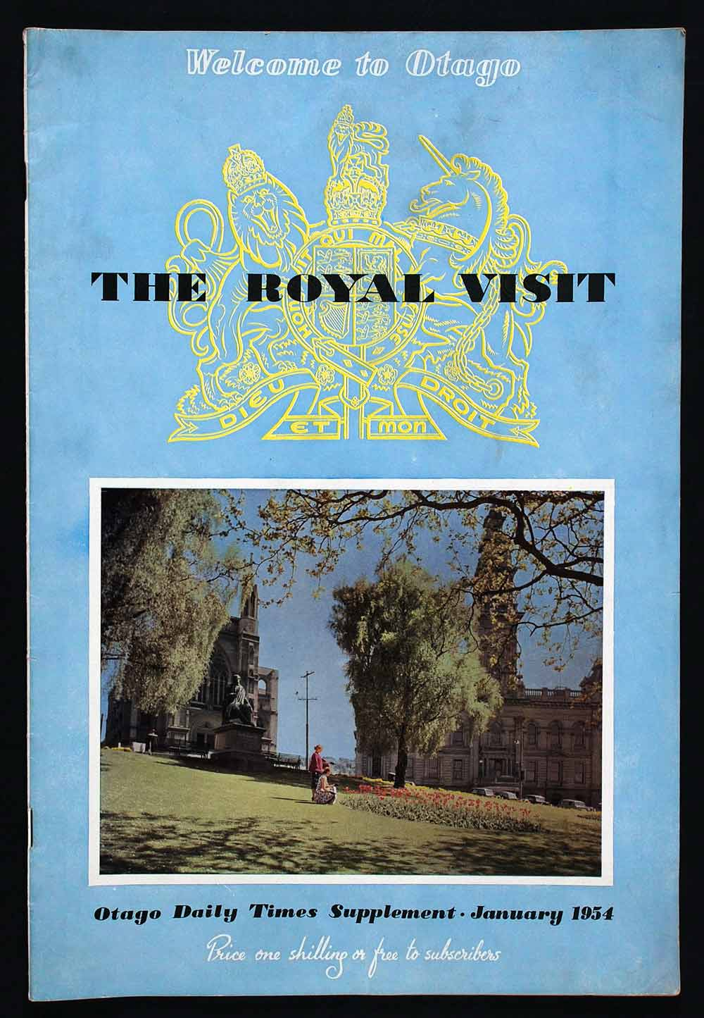 The royal visit; Otago Daily Times supplement, January 1954. Dunedin: Otago Daily Times, [1954].