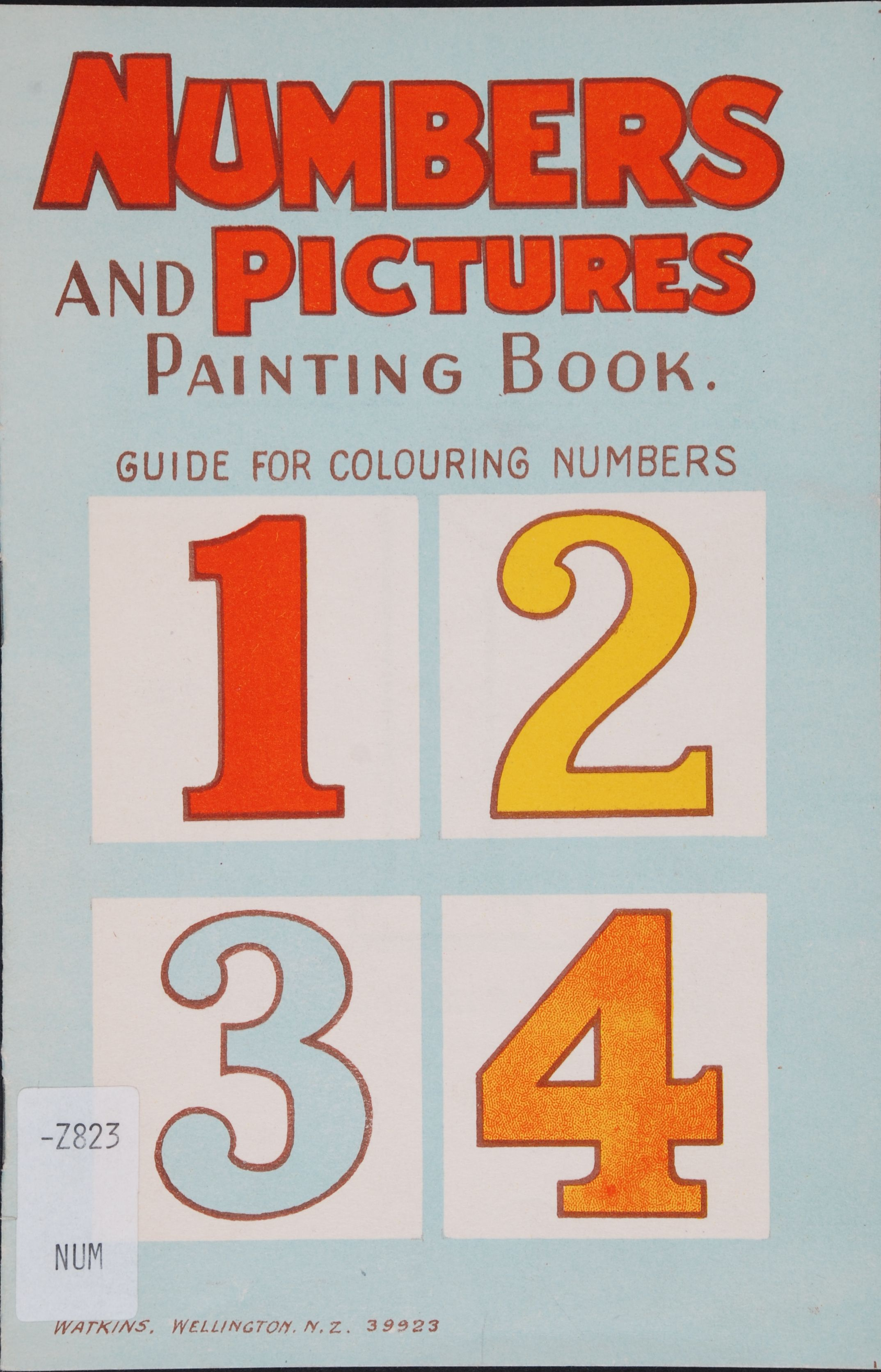 Numbers and pictures painting book. Wellington, N.Z.: Watkins, [1942].