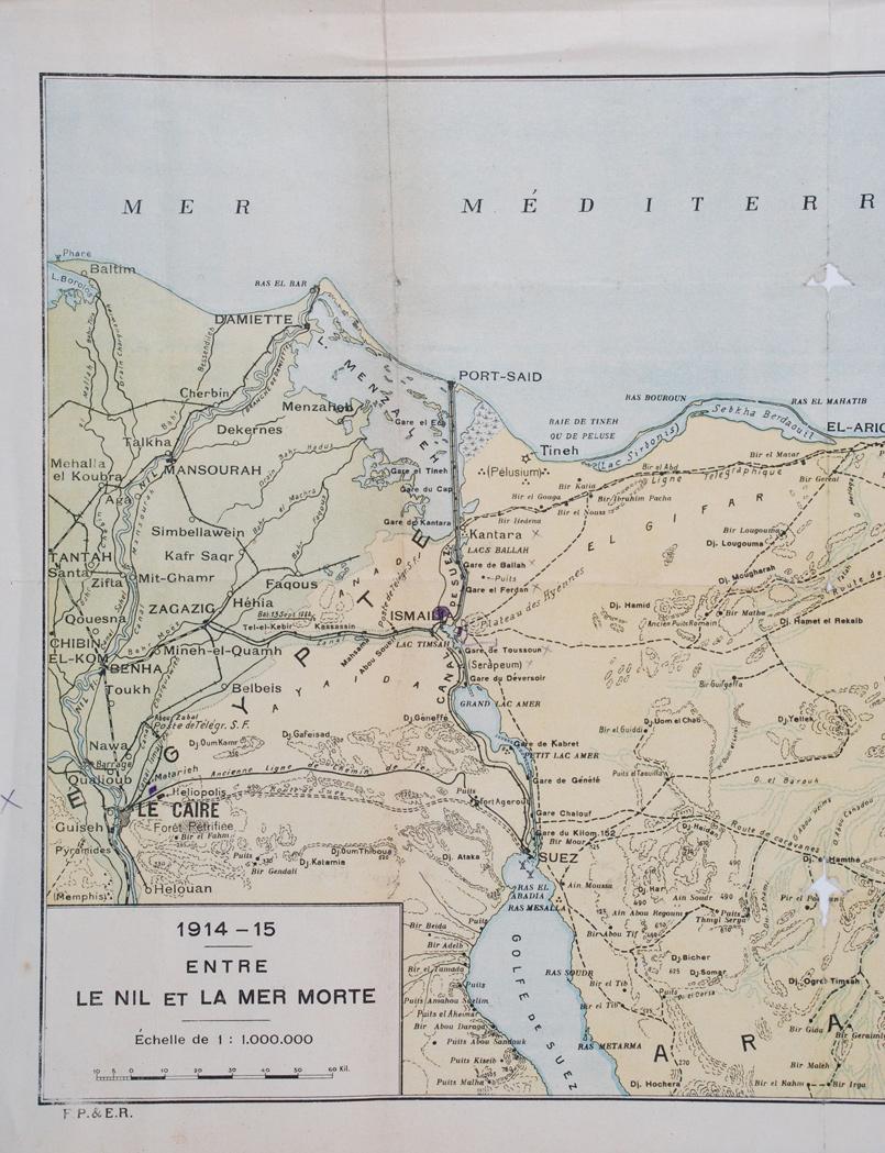 1914-1915 Entre Le Nil  et La Mer Morte. Cairo, Egypt: O Mourafetli, [1915?]