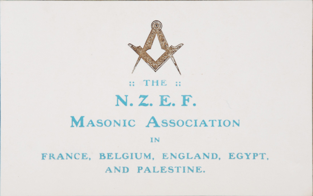 Christmas Card. NZEF Masonic Association, 1917