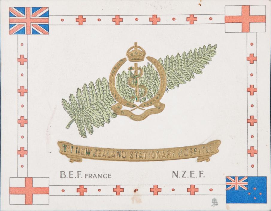 Christmas Card. No. 1 Stationary Hospital BEF / NZEF. [n.d.]