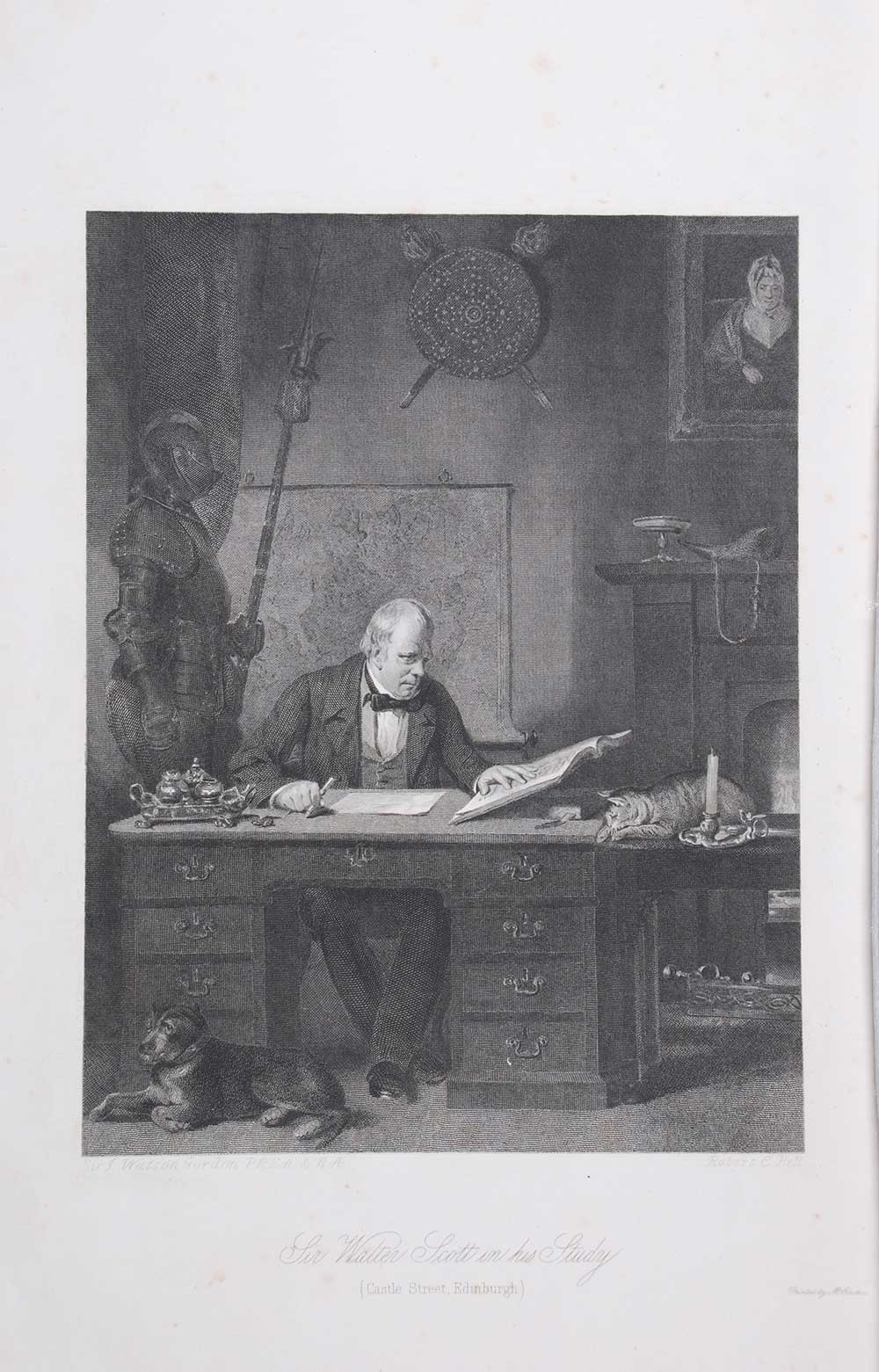 <em>Portrait of Sir Walter Scott, and five engravings in illustration of</em> The Pirate. [Edinburgh]: Royal Association for the Promotion of the Fine Arts in Scotland, 1871.