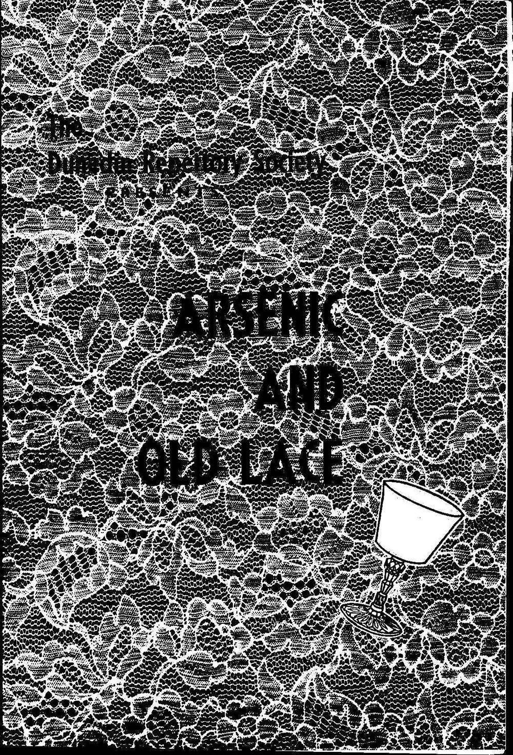 <em>Arsenic and old lace</em>. Joseph Kesselring. (Dunedin Repertory Society). [ca. 1960]