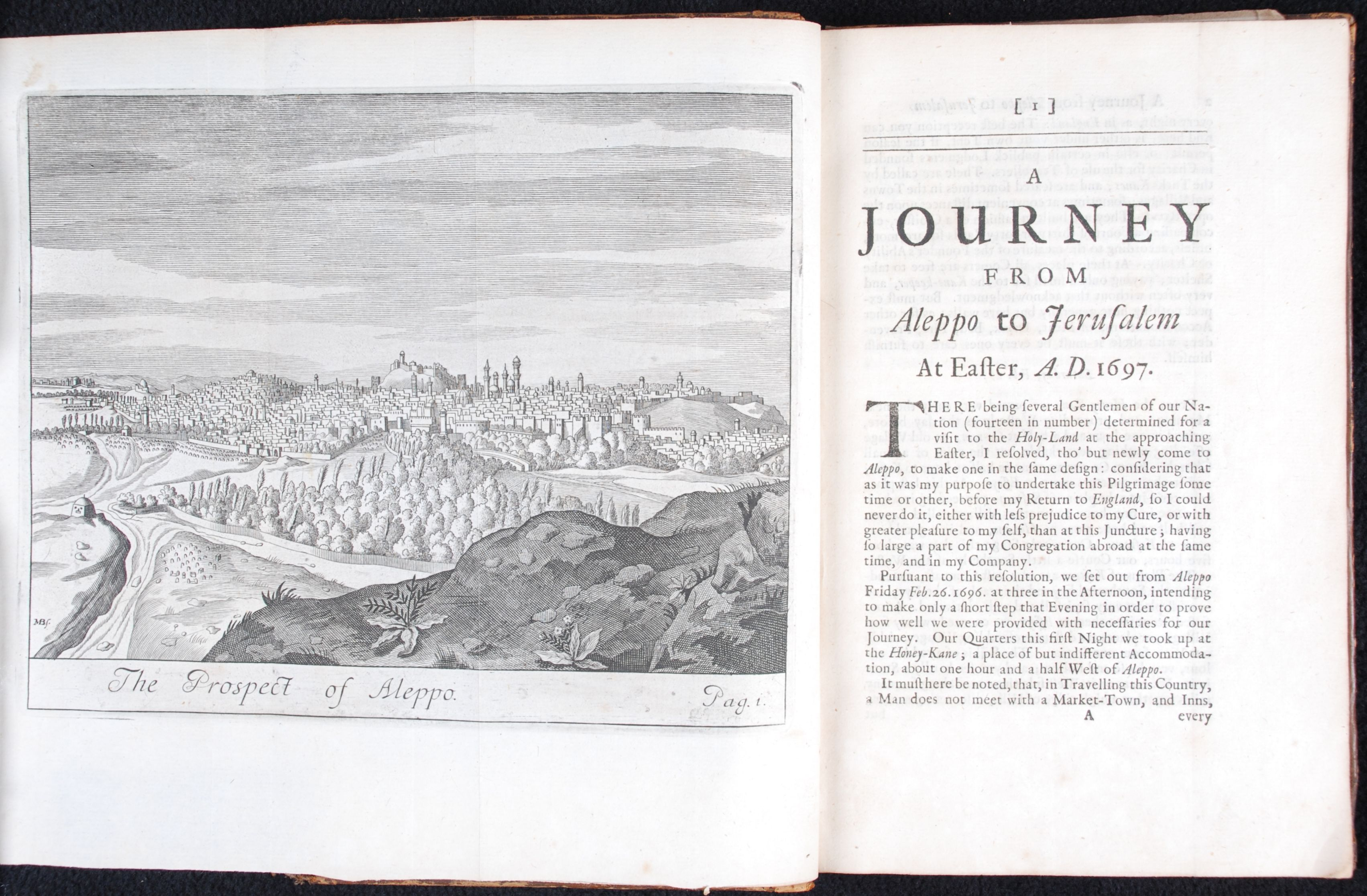 Henry Maundrell. A journey from Aleppo to Jerusalem at Easter, A.D.1697. 5th edition. Oxford: Printed at the Theater, 1732.