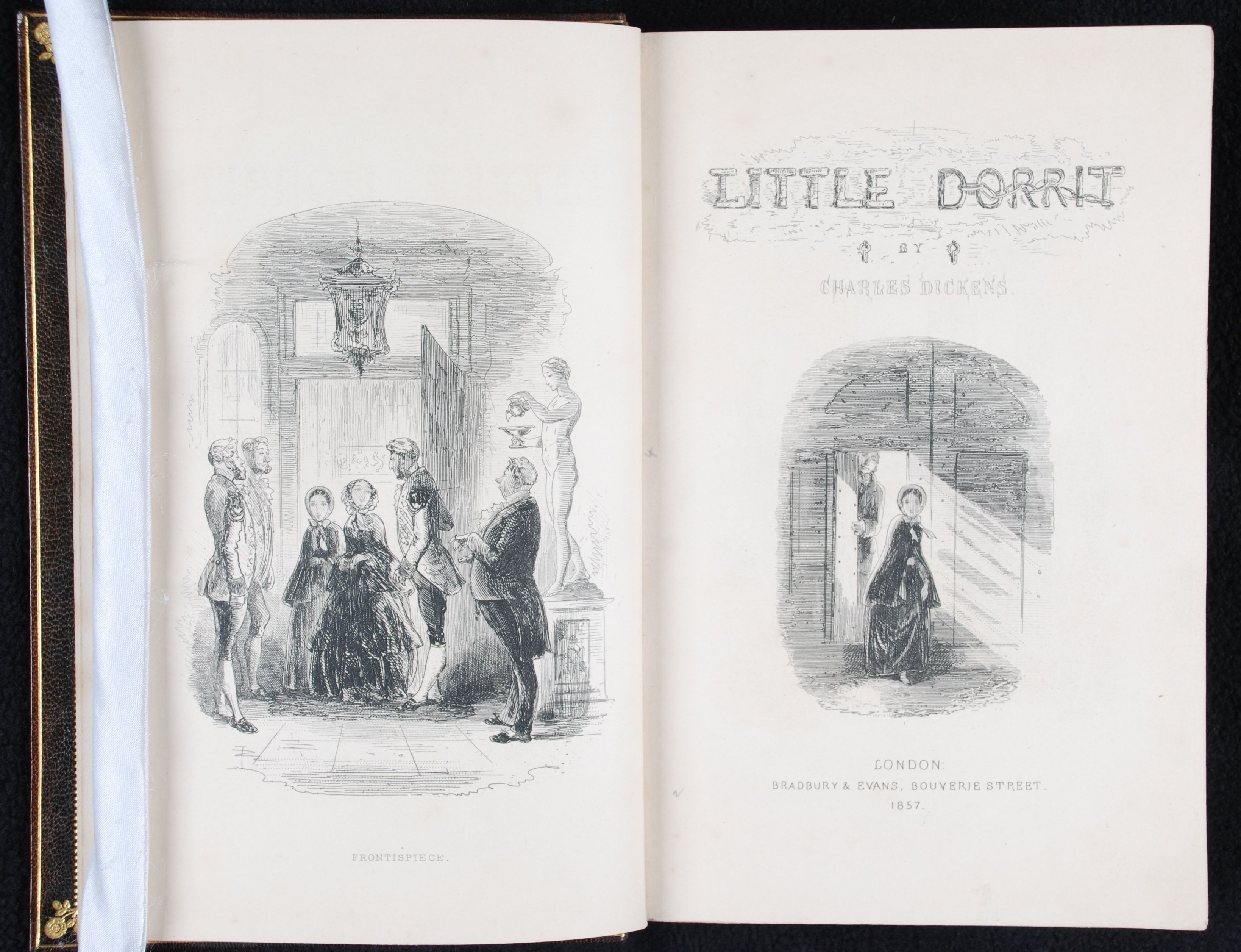Charles Dickens. Little Dorrit. Illustrations by H.K. Browne. London: Bradbury and Evans, 1857.