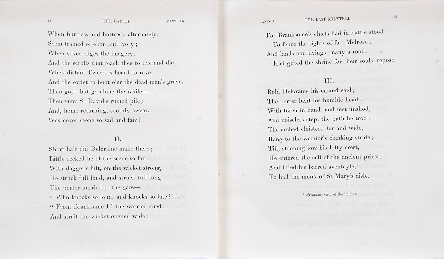 Sir Walter Scott. <em>The lay of the last minstrel: a poem with ballads and lyrical pieces.</em> 8th edition. London: Printed for Longman, Hurst, Rees and Orme, and A. Constable and Co., Edinburgh; by James Ballantyne and Co., Edinburgh, 1810.