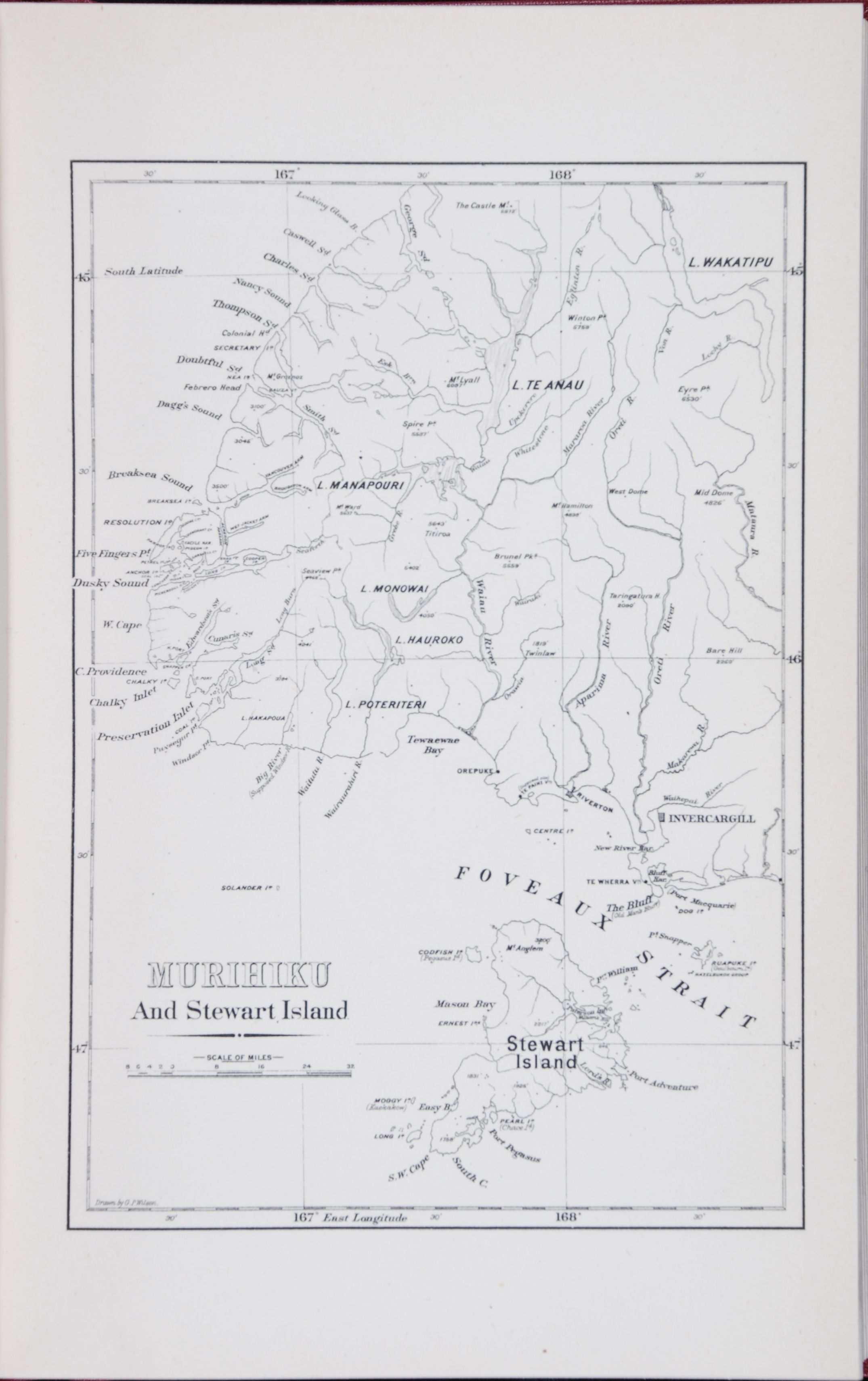 Robert McNab. Murihiku and the Southern Islands: a history of the West Coast Sounds, Foveaux Strait, Stewart Island, the Snares, Bounty, Antipodes, Auckland, Campbell and Macquarie Islands, from 1770 to 1829.  Invercargill: William Smith, 1907.