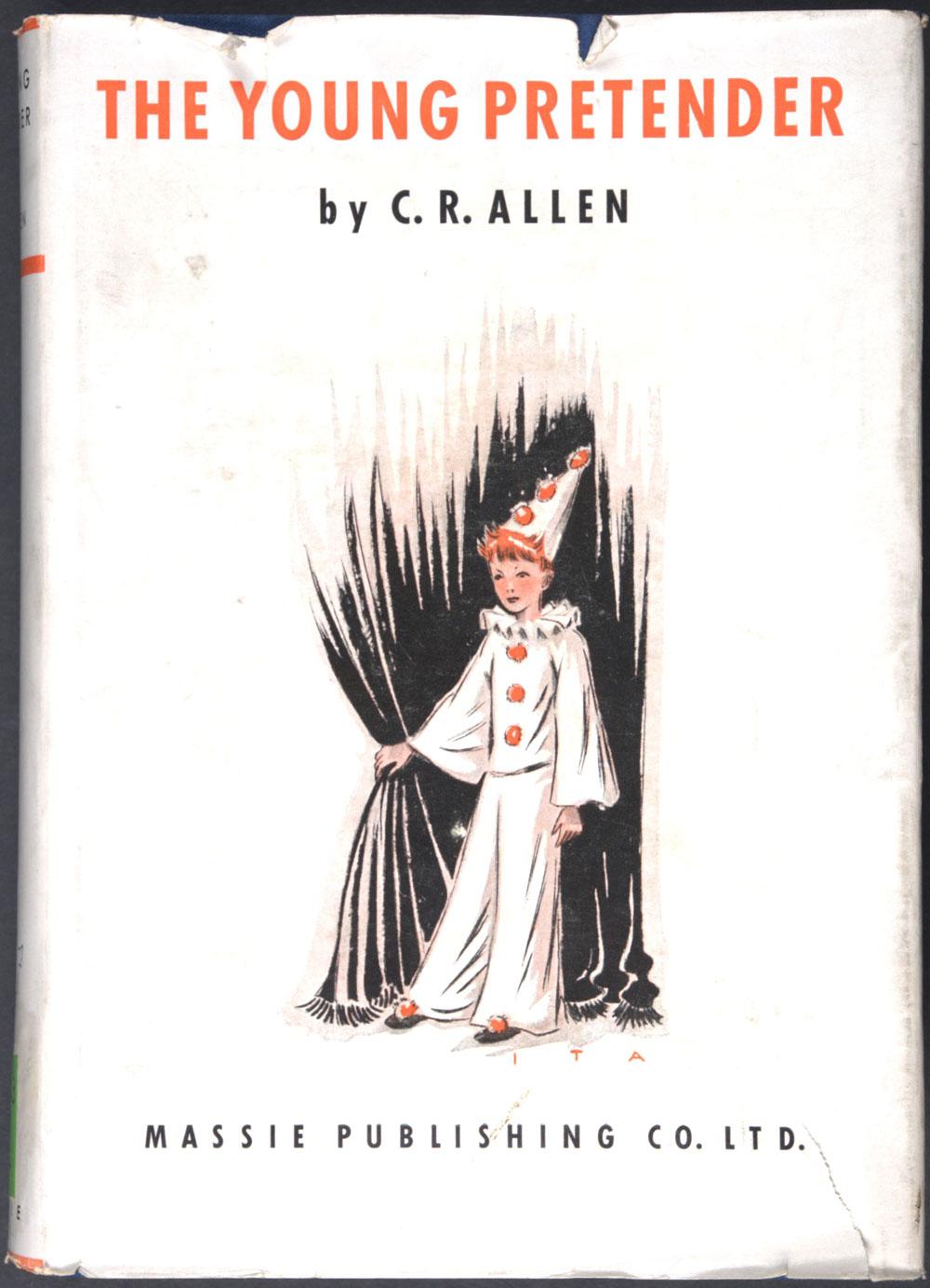 C.R. Allen. <em>The young pretender: a novel.</em> Colonial ed. London: Massie Publishing, 1939.
