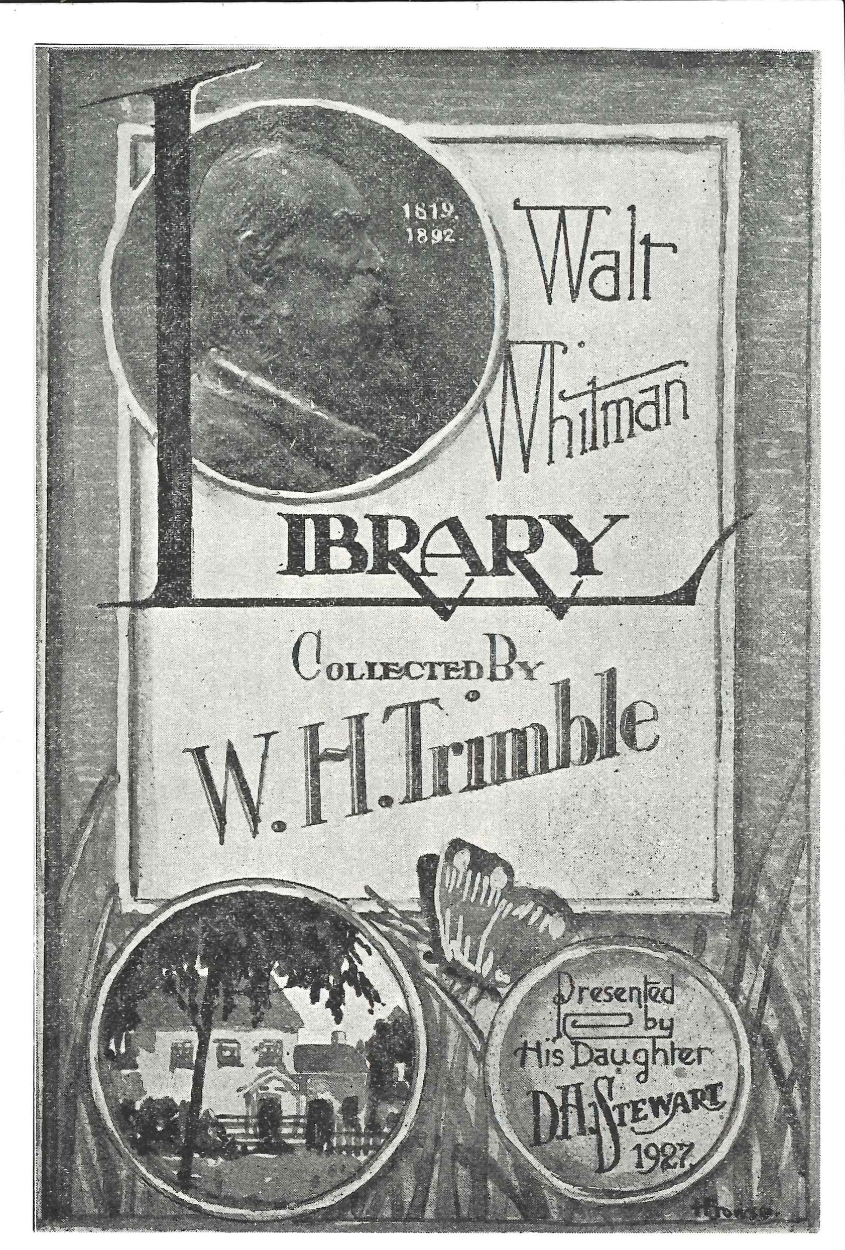 Bookplate of the Trimble Whitman Collection, Dunedin Public Library.