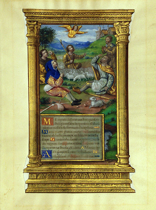 Single leaf from a Book of Hours, in Latin. Northern France (perhaps Paris), sixteenth century. Reed MSF36