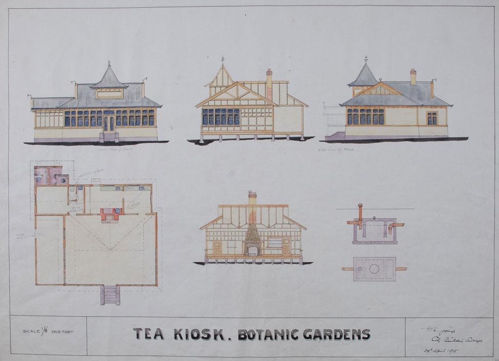 Tea Kiosk Botanic Gardens (plan).