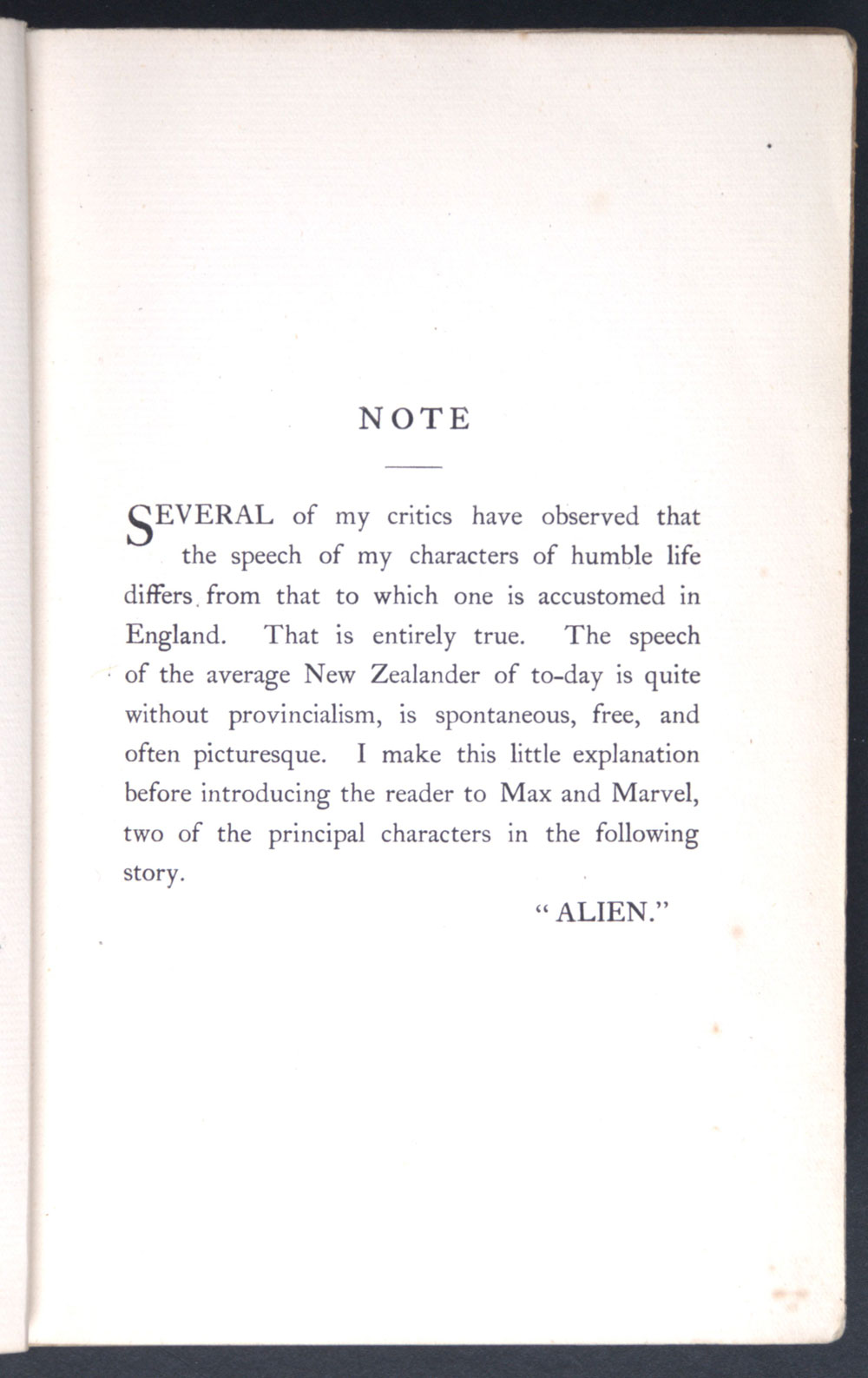 Alien. <em>The untold half</em>. London: Hutchinson, 1899.