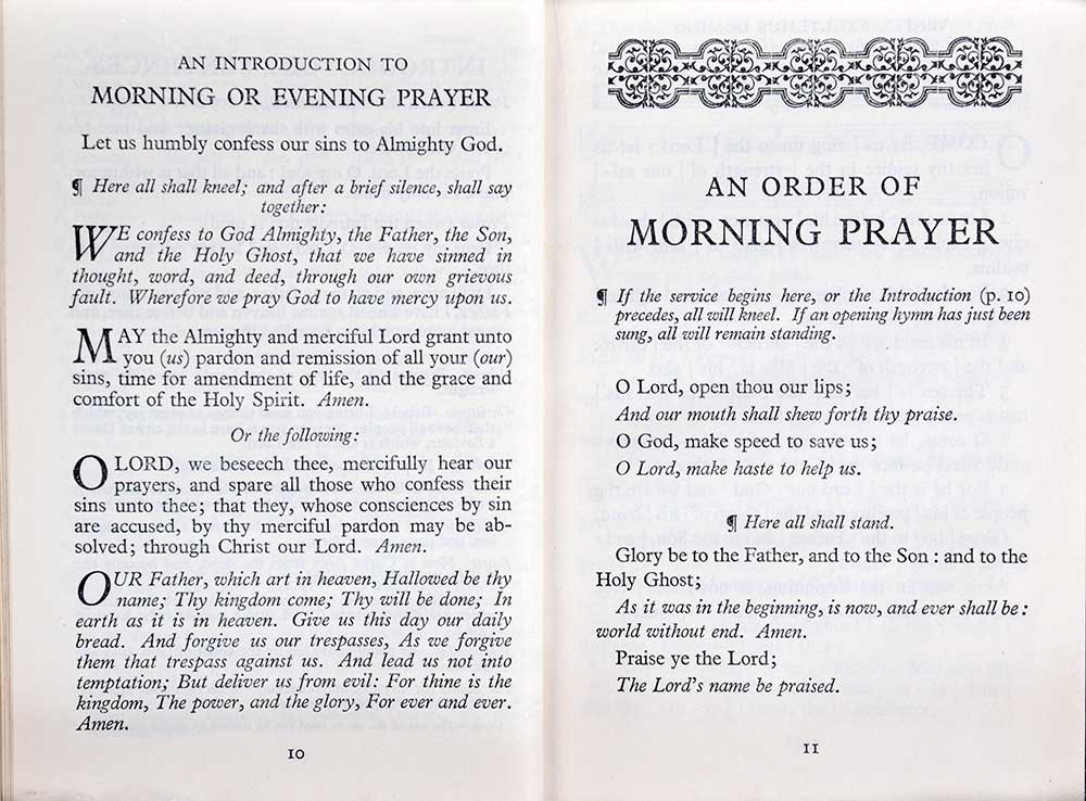 Church of England. <em>The Children's Church: an order of morning and evening prayer with songs of praise for children.</em> Oxford: University Press, 1935.