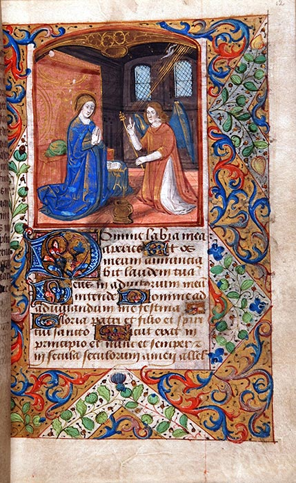 Book of Hours, in Latin and French. Northern France (perhaps Rouen), late-fifteenth or sixteenth century. Reed MS8