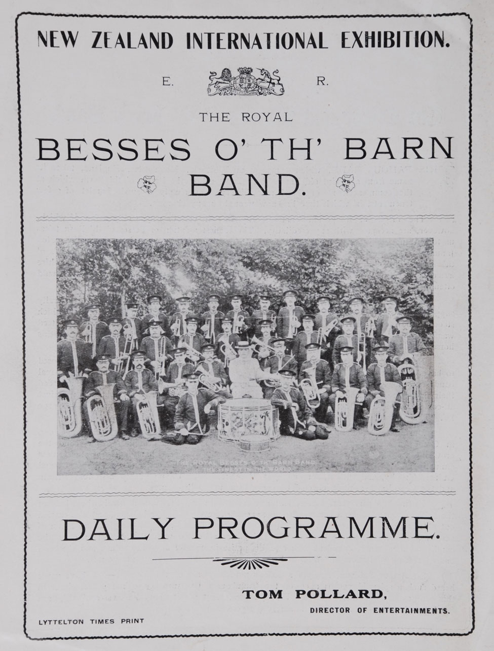 The Royal Besses o' th' Barn Band, New Zealand International Exhibition: Daily Programme.