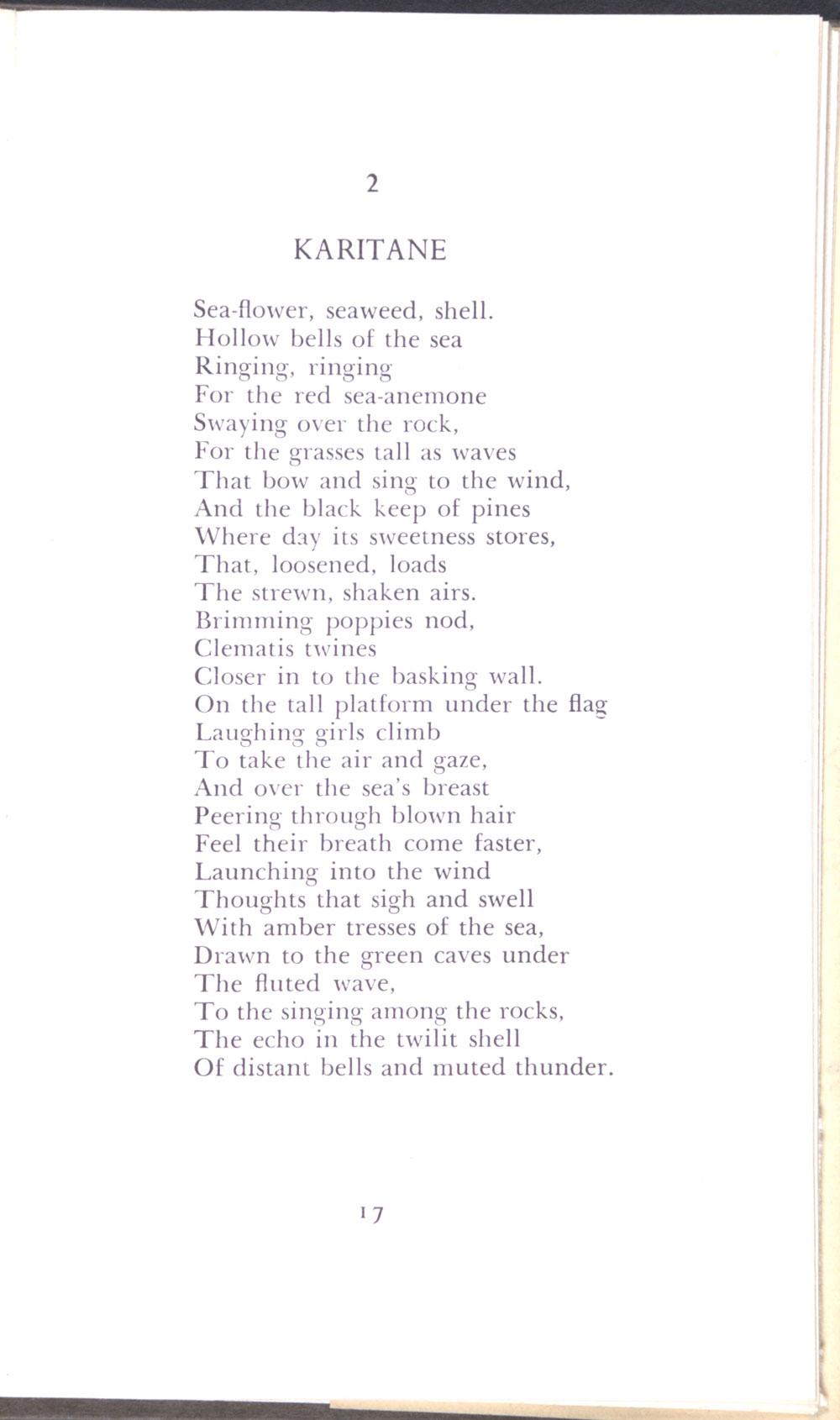 Charles Brasch. <em>Disputed ground: poems 1939-1945</em>. Christchurch: Caxton Press, 1948.