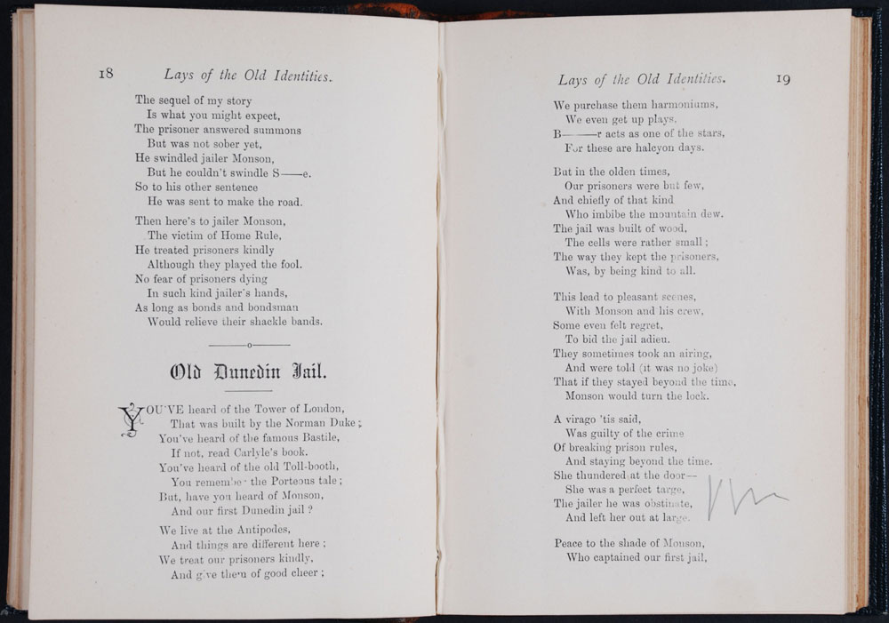 John Blair. <em>Lays of the old identities and other pieces suitable for recitations and readings.</em> Dunedin: R.T. Wheeler, 1889.